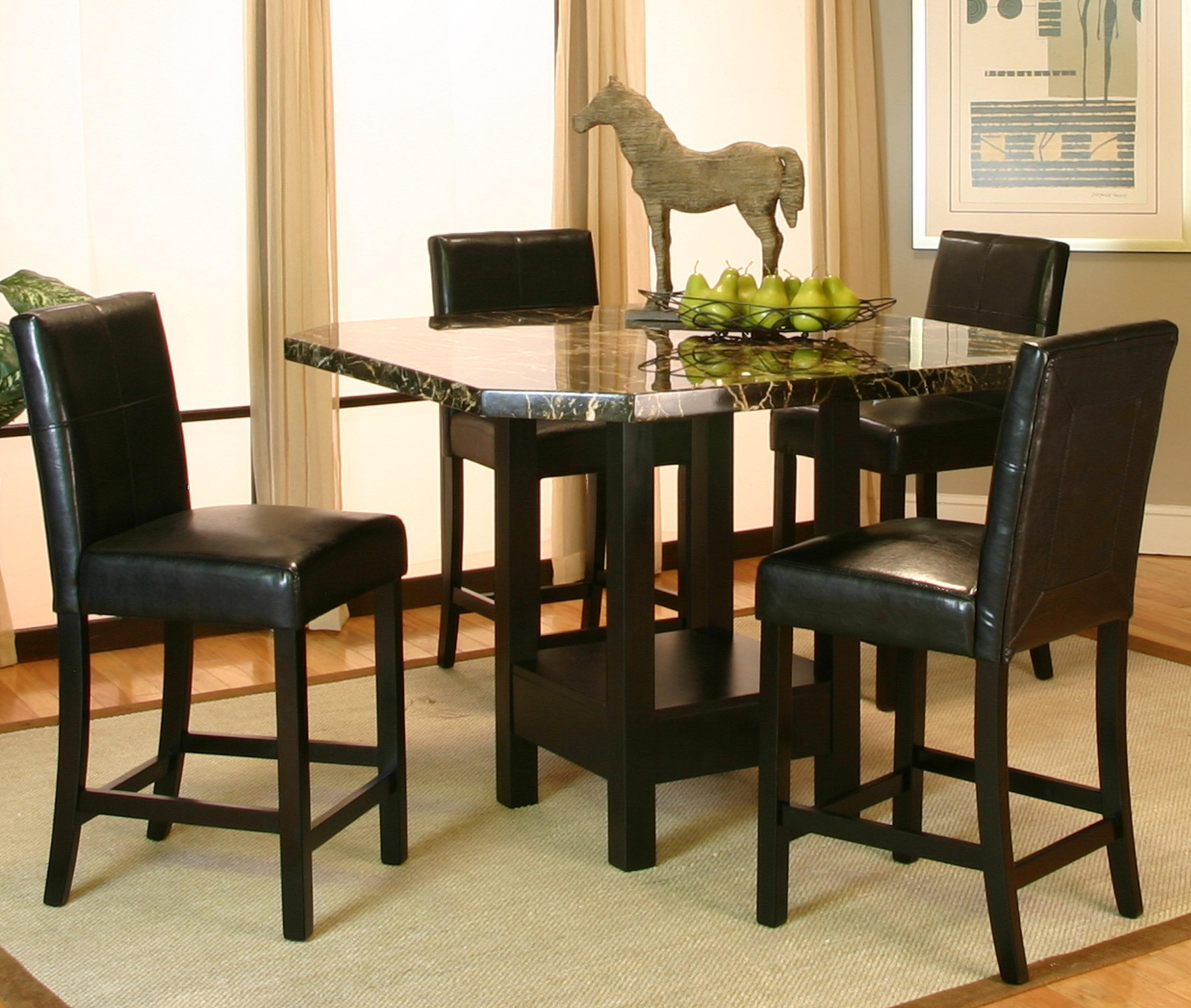 5 piece pub table and stool set by cramco inc wolf and for Pub style dining sets