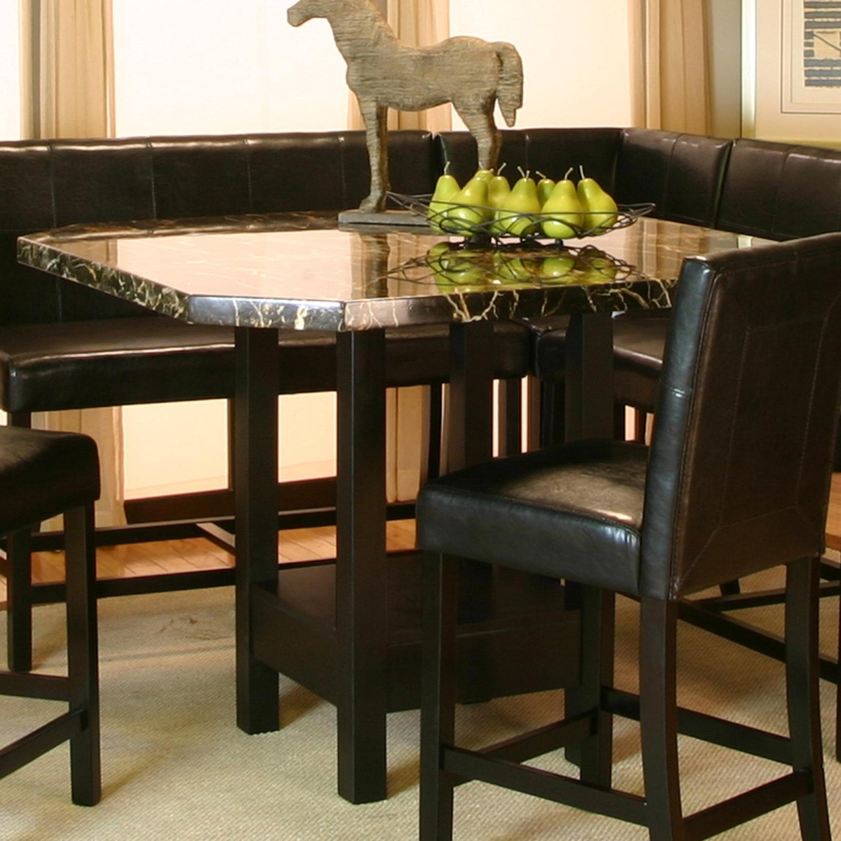Square Clipped Corner Pub Table W Faux Marble Top By Cramco Inc Wolf And Gardiner Wolf Furniture