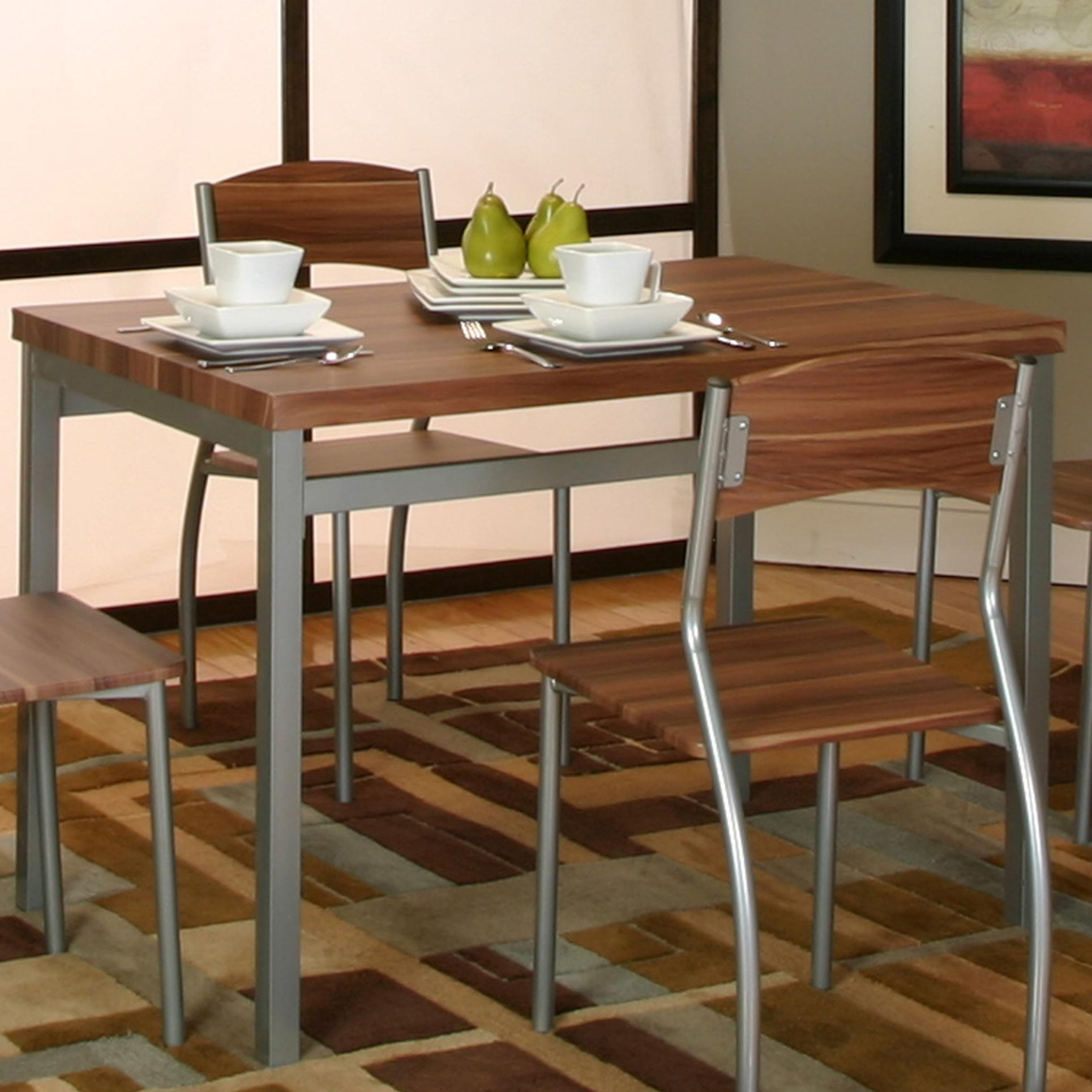 Platinum acacia veneer table by cramco inc wolf and for Table acacia