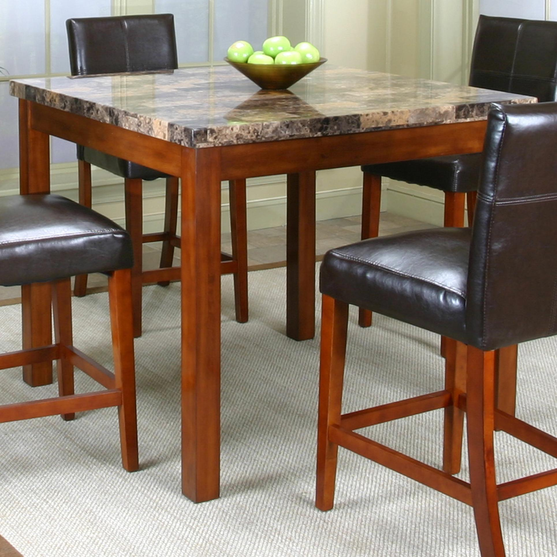 Pub Table W Faux Marble Top By Cramco Inc Wolf And