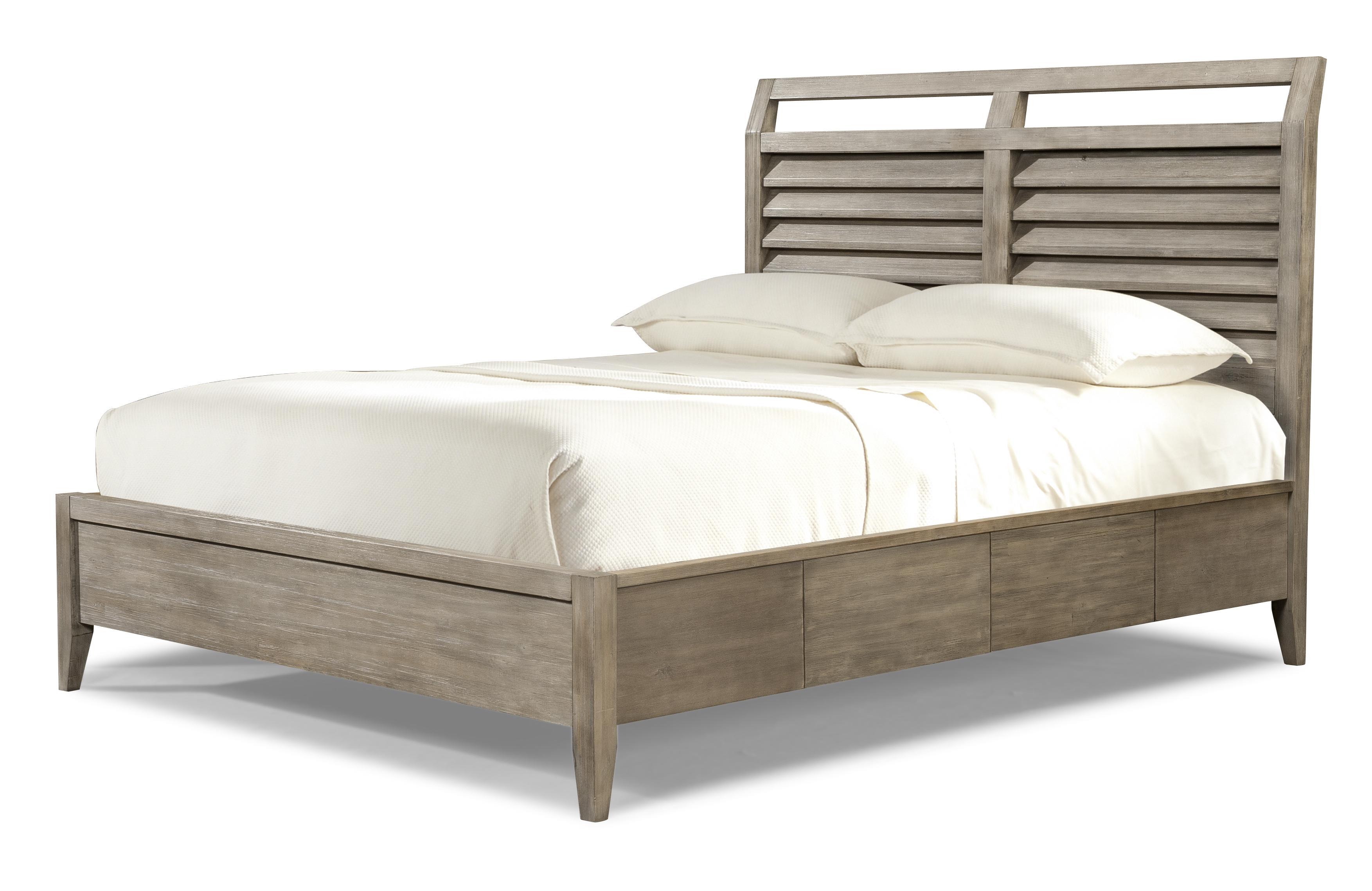 Queen Low Profile Louvered Panel Bed By Cresent Fine Furniture Wolf And Gardiner Wolf Furniture