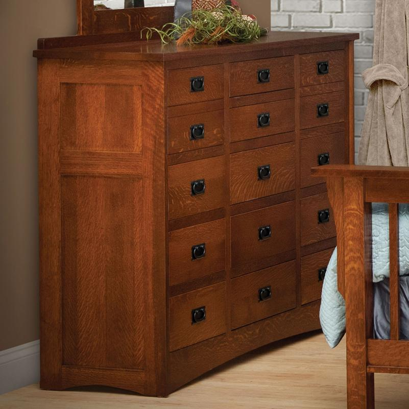 Drawer solid wood triple dresser by daniel s amish