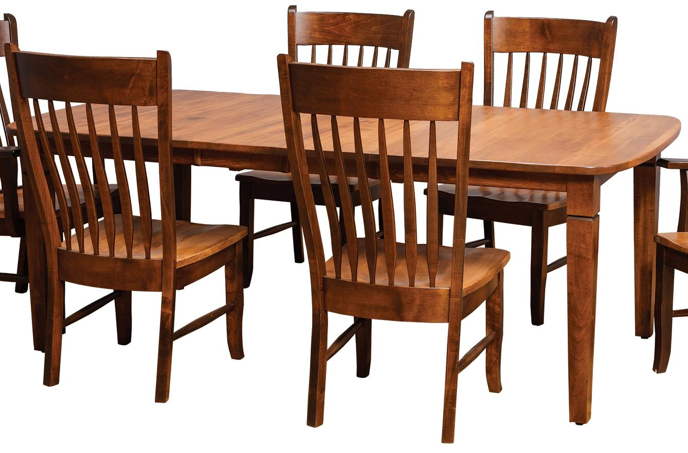Distressed rectangular dining table by daniel 39 s amish wolf and gardiner wolf furniture - Rectangle kitchen tables ...
