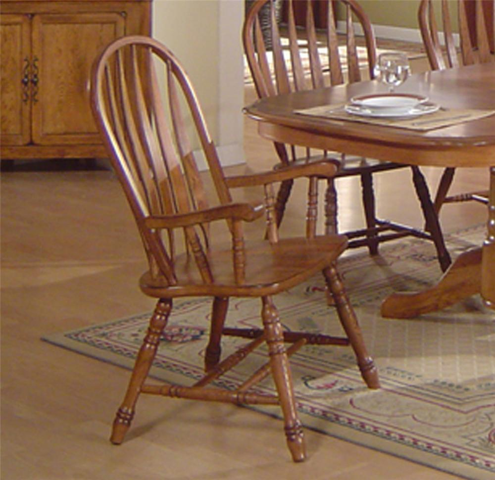 Solid Oak Dining Table Arrowback Chair Set By E C I Furniture Wolf A