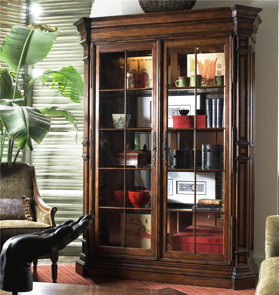Traditional display cabinet with glass doors by fine for Decorating cabinets with glass doors