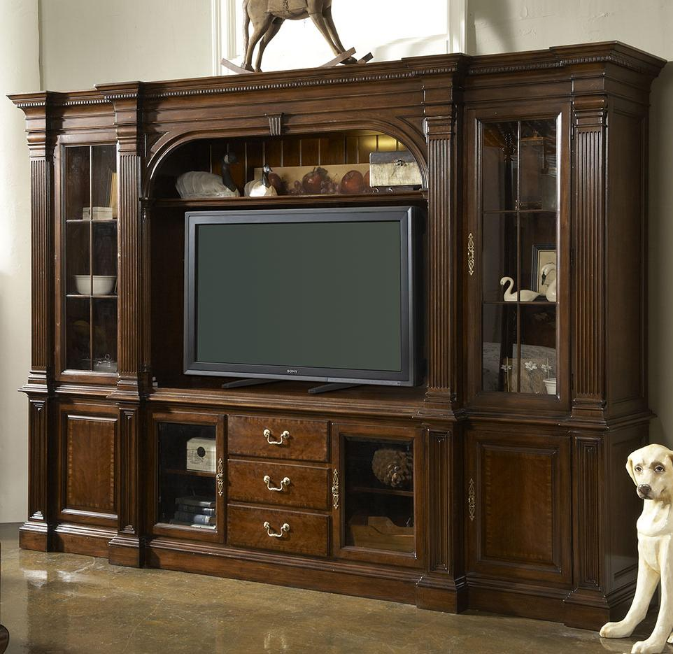 Salisbury six piece home entertainment wall unit by fine for Wall units