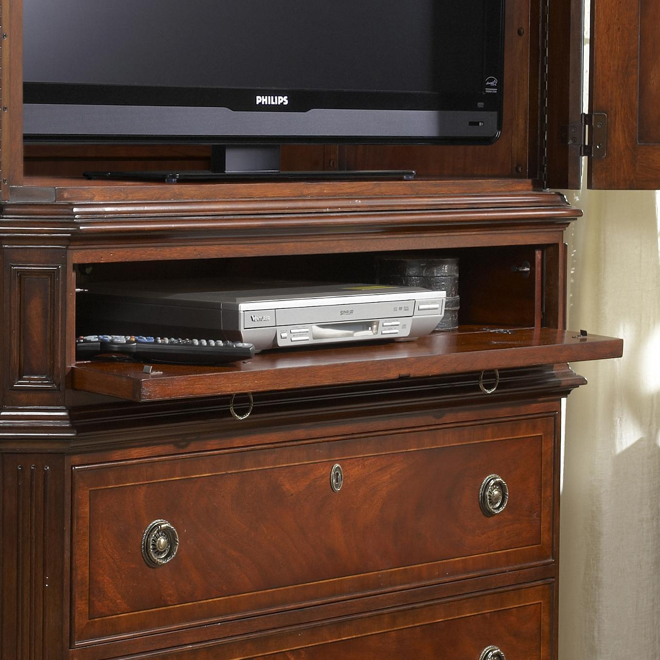 Traditionally styled entertainment armoire by fine for Entertainment armoire