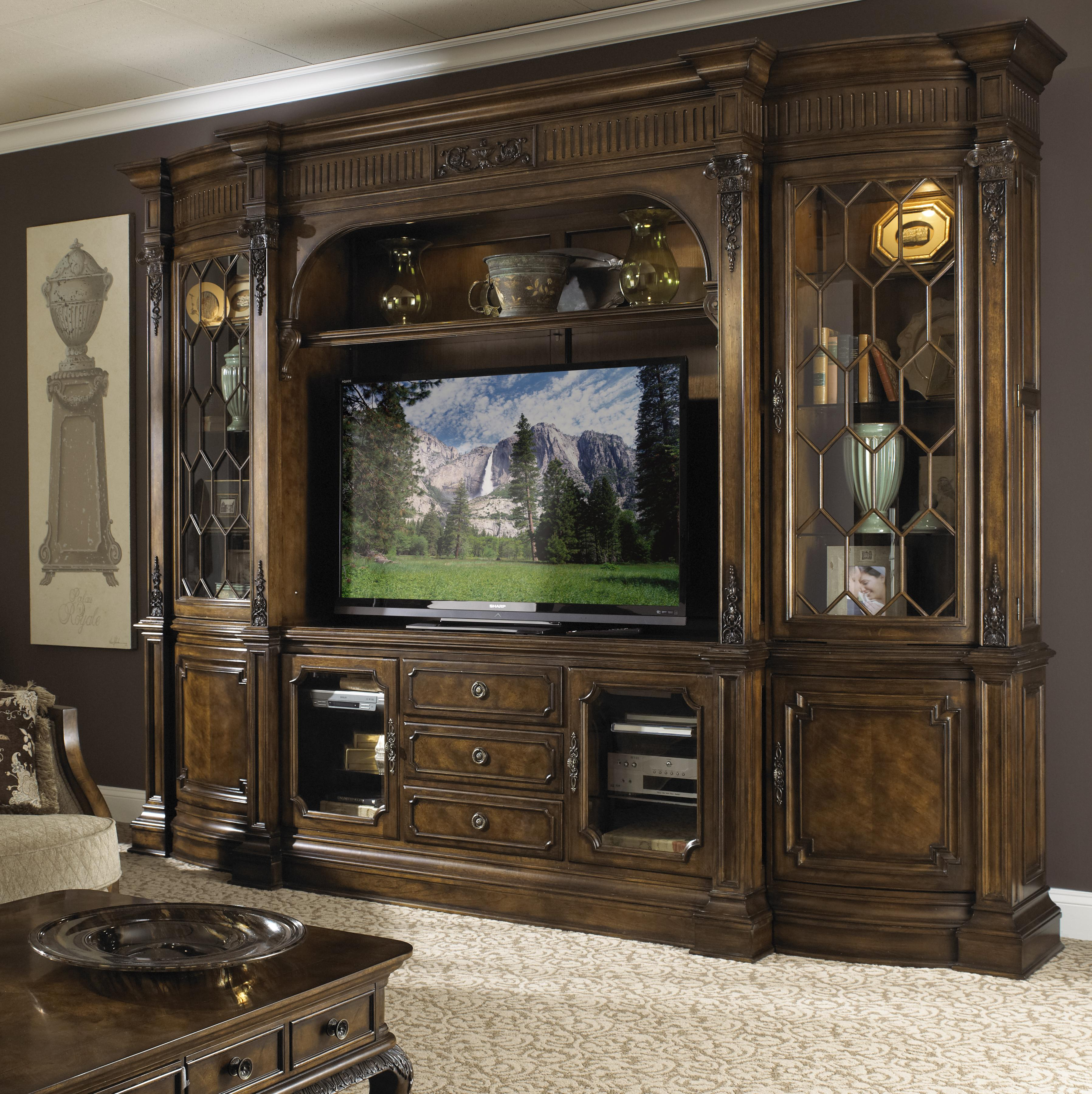 Traditional Entertainment Center Wall Unit By Fine