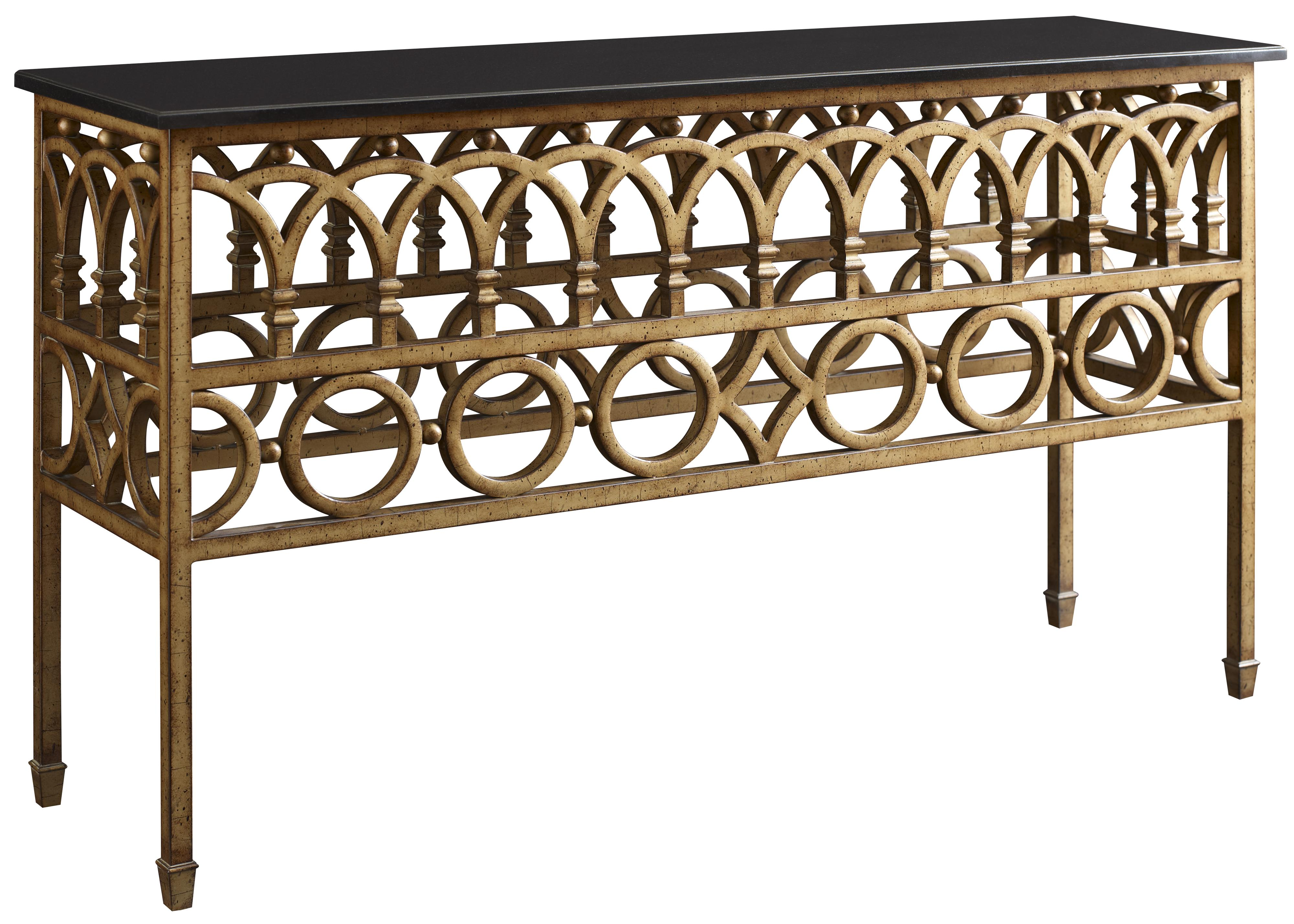 Iron console table w marble top by fine furniture design for Iron furniture