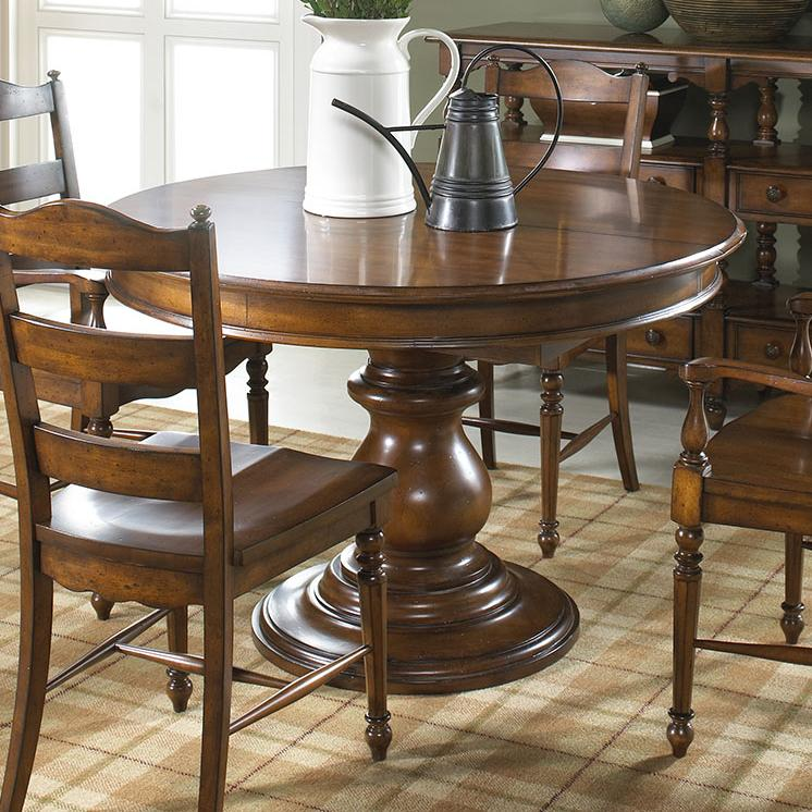 Elegant round dining table by fine furniture design wolf for Fancy round dining table