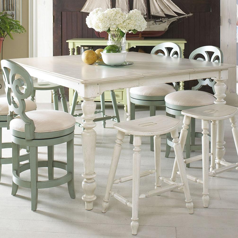 Casual high low dining table by fine furniture design for Casual kitchen tables