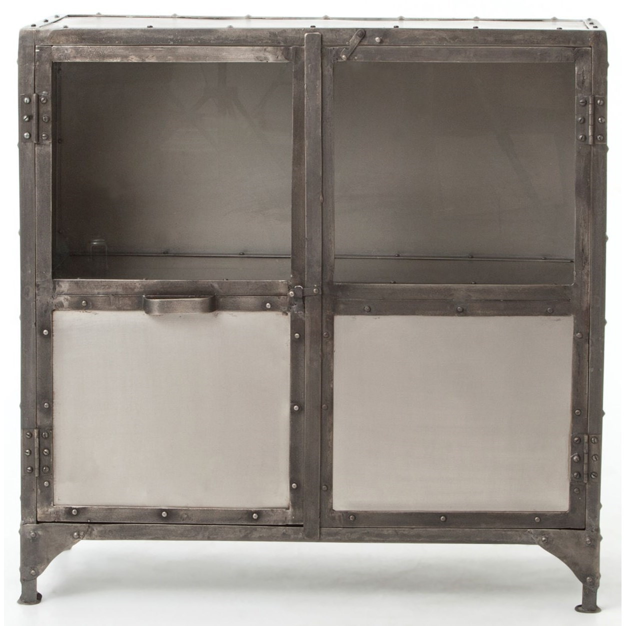 Industrial Metal Sideboard with Glass Doors by Four Hands | Wolf ...