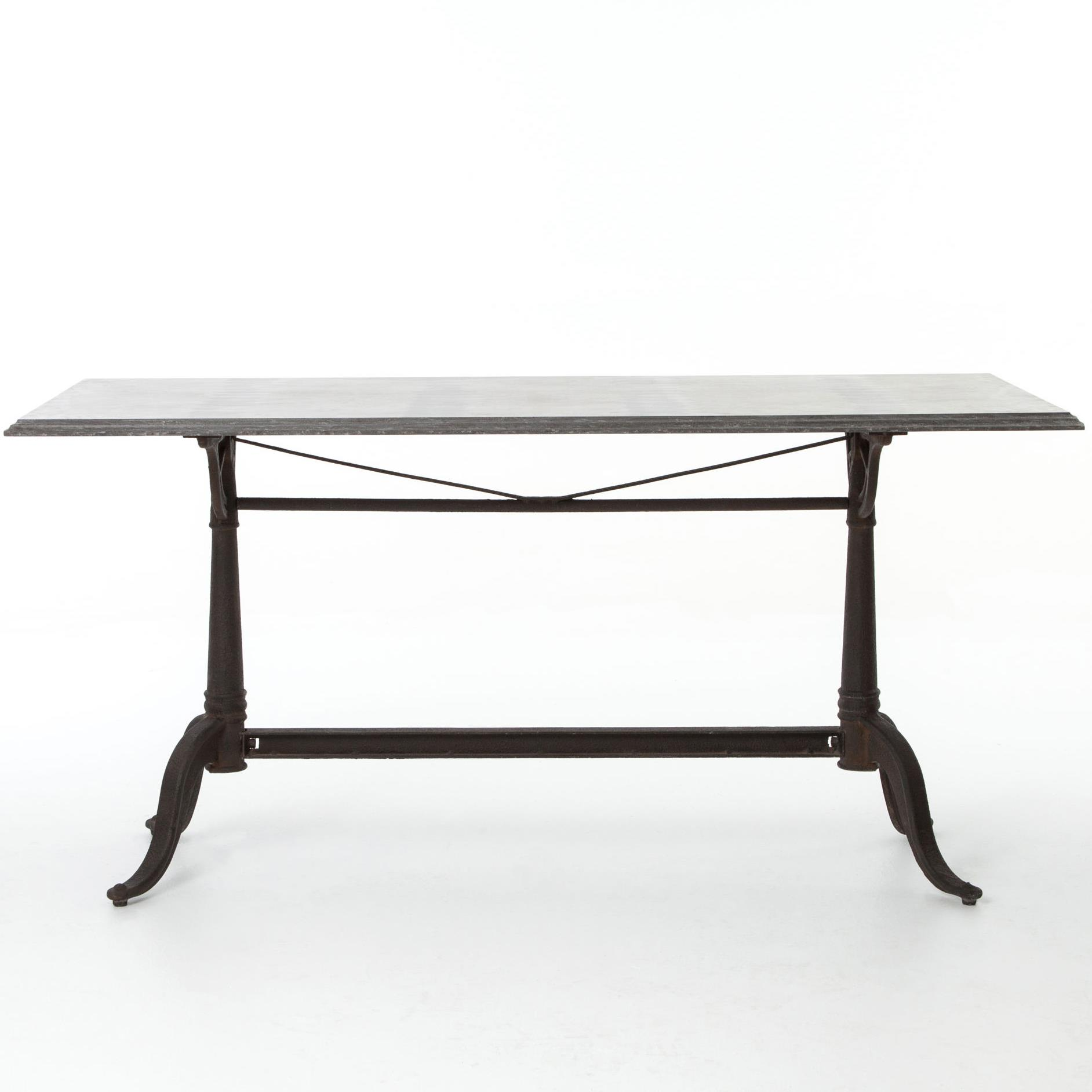 Parisian dining table with bluestone top by four hands for Dining table tj hughes