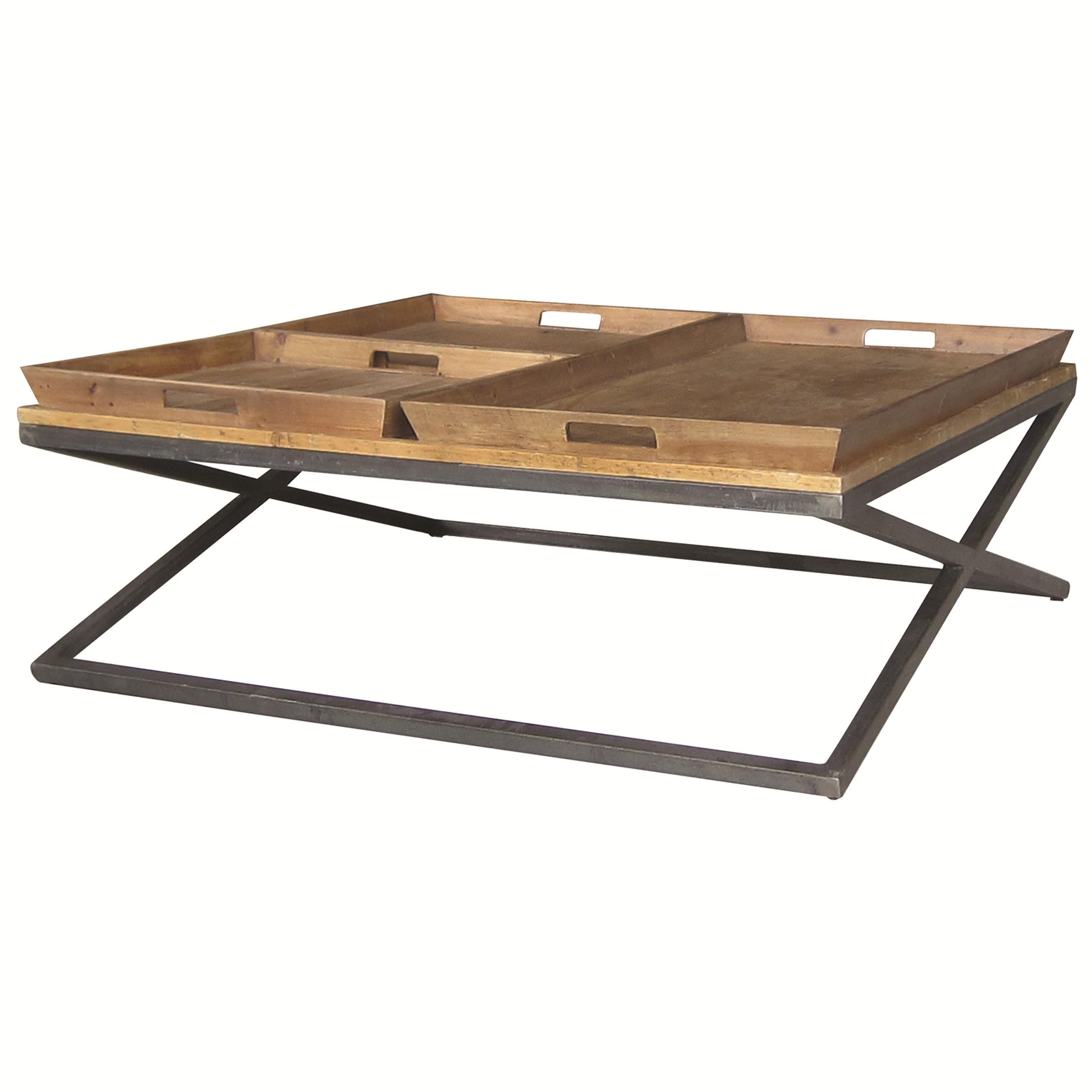 Jax Square Coffee Table With Tray Style Top By Four Hands Wolf And Gardiner Wolf Furniture