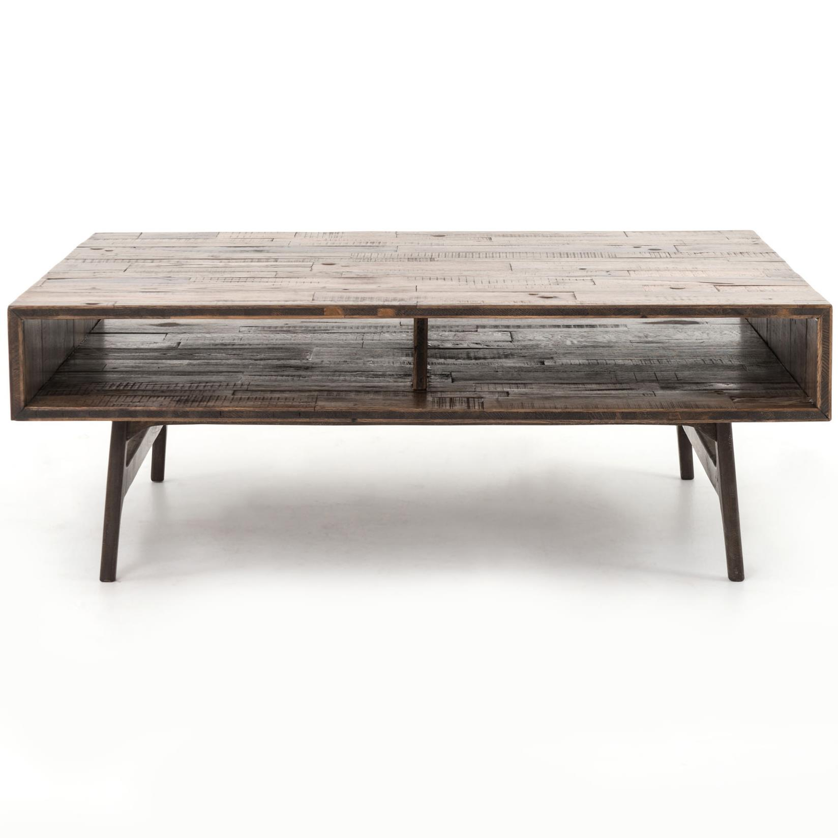 Nico coffee table with open compartments by four hands for Coffee tables york pa