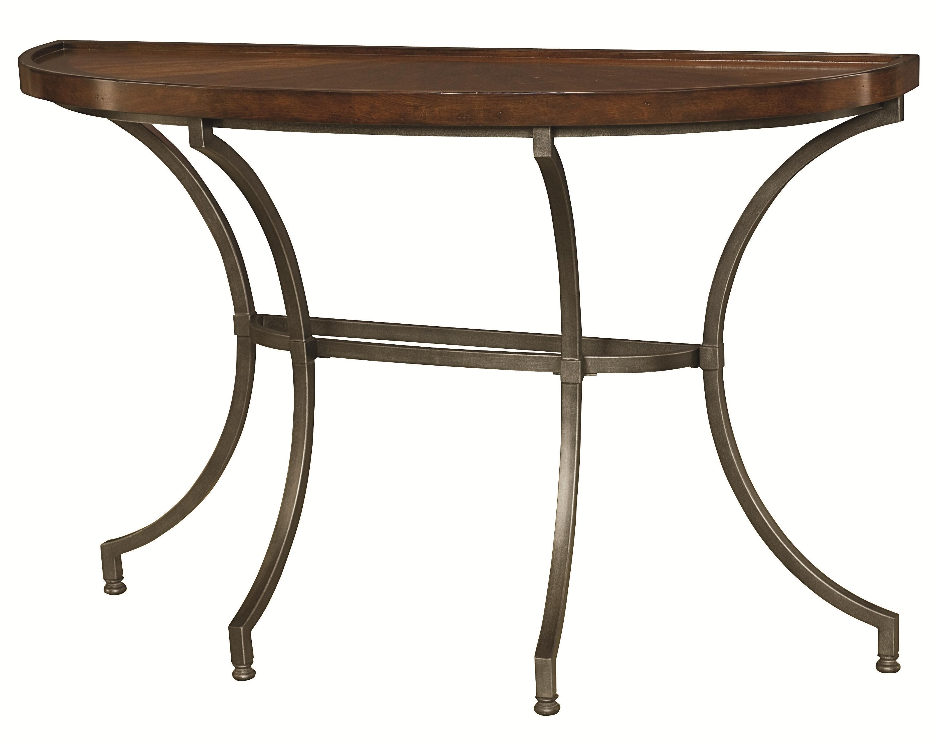 Sofa table with metal legs by hammary wolf and gardiner for Sofa table leg height