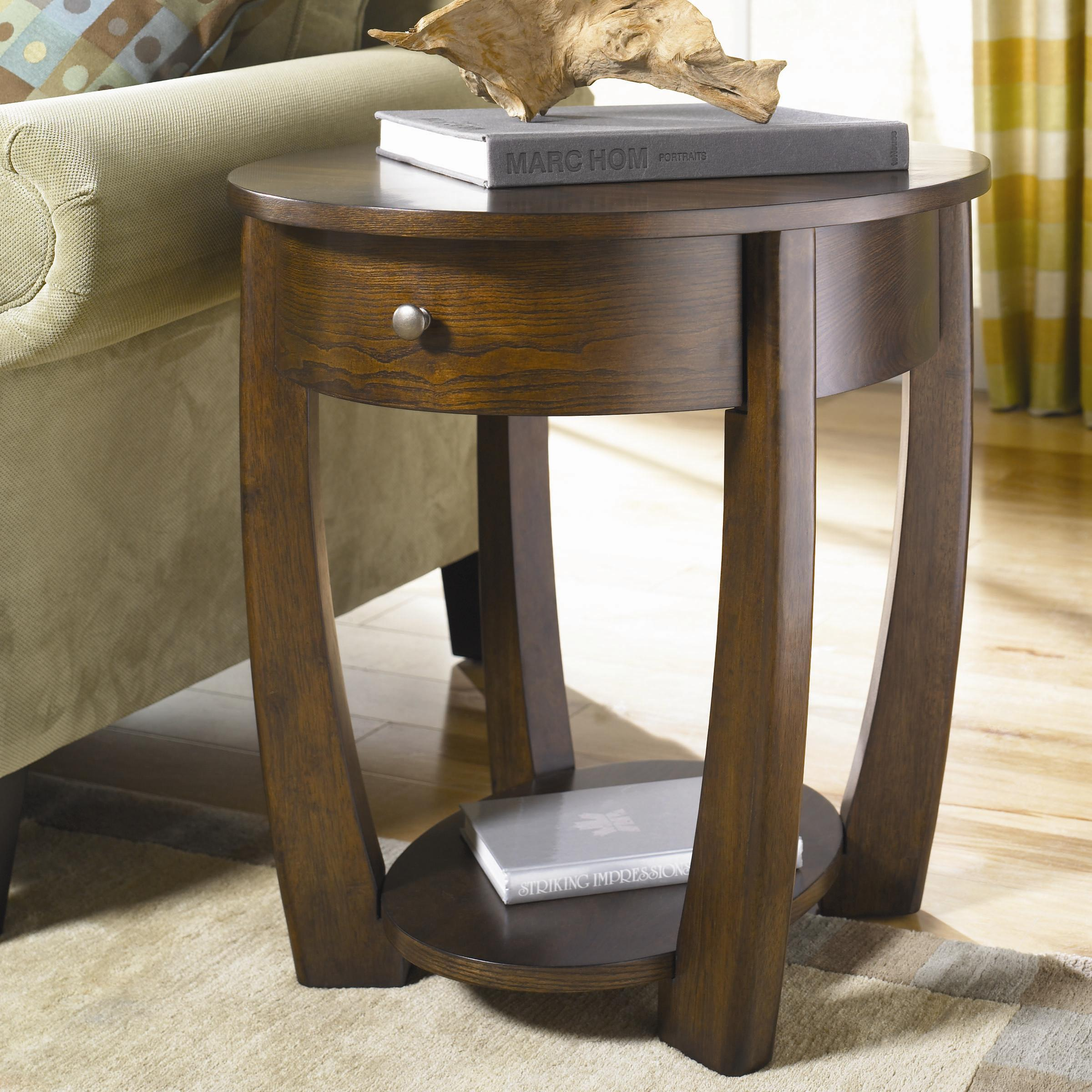 oval drawer end table by hammary wolf and gardiner wolf furniture. Black Bedroom Furniture Sets. Home Design Ideas