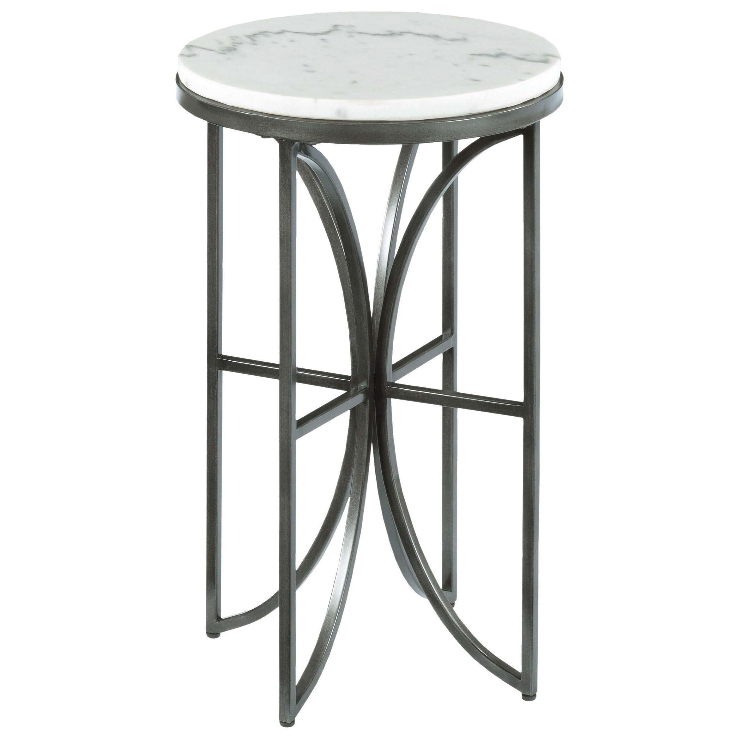 small round accent table with marble top by hammary wolf and gardiner wolf furniture. Black Bedroom Furniture Sets. Home Design Ideas