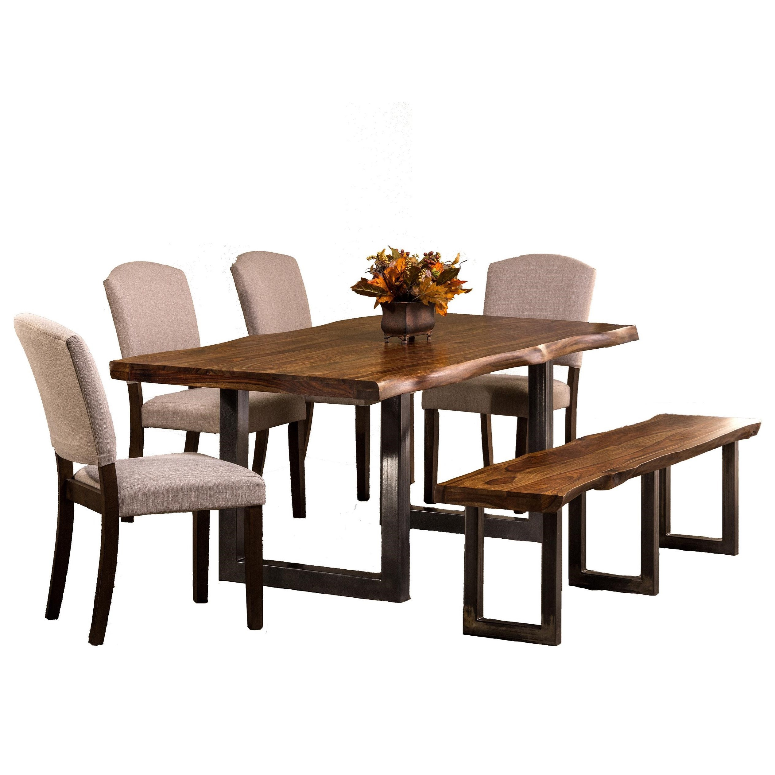 Standard Furniture Cambria Rectangular White Wood And: Natural Sheesham Wood Rectangular Dining Table By