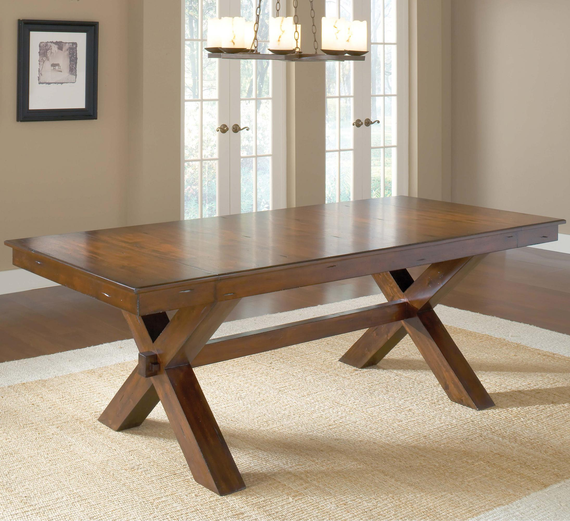 trestle dining table w 2 leaves by hillsdale wolf and gardiner wolf furniture. Black Bedroom Furniture Sets. Home Design Ideas