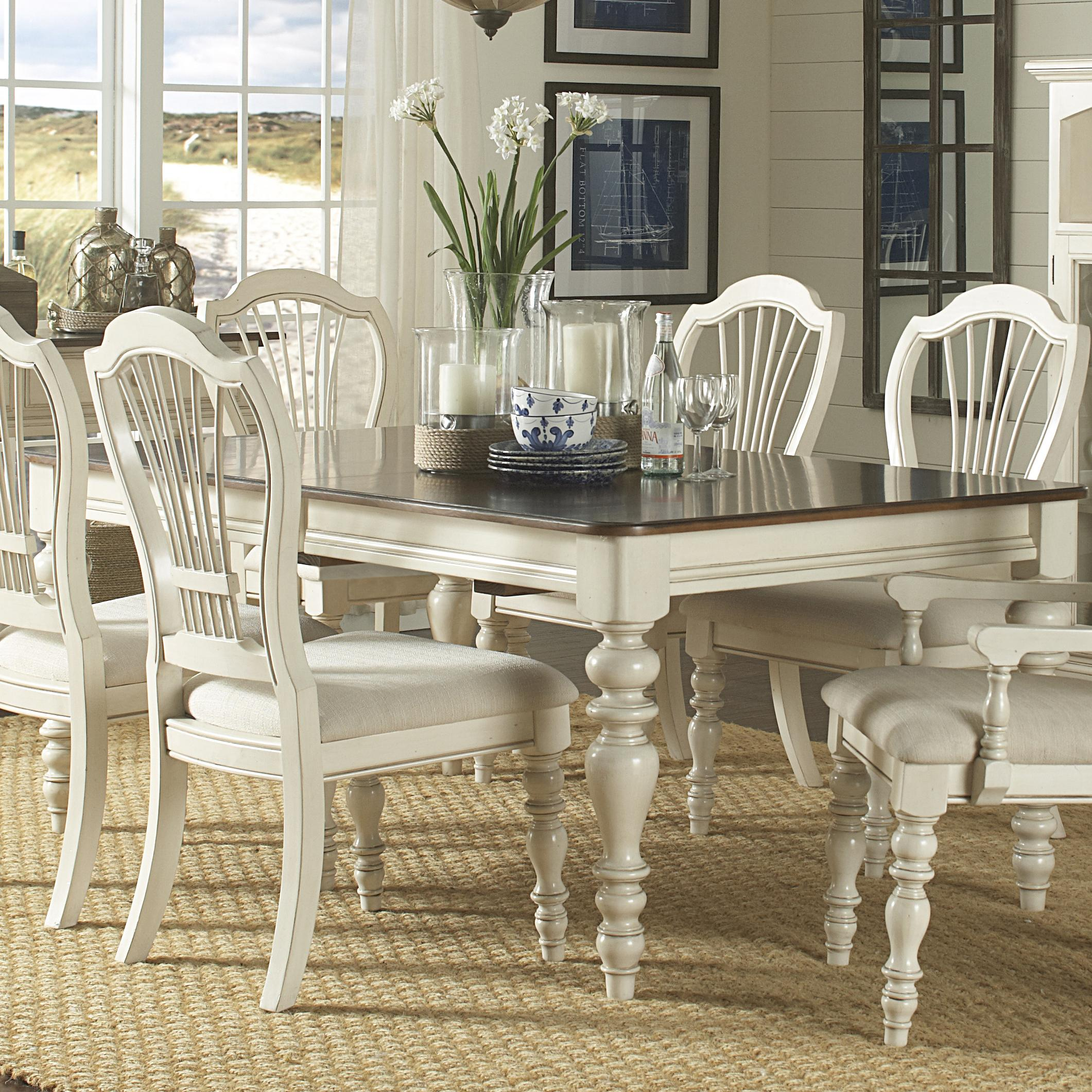 Dining table with turned legs by hillsdale wolf and for White turned leg dining table