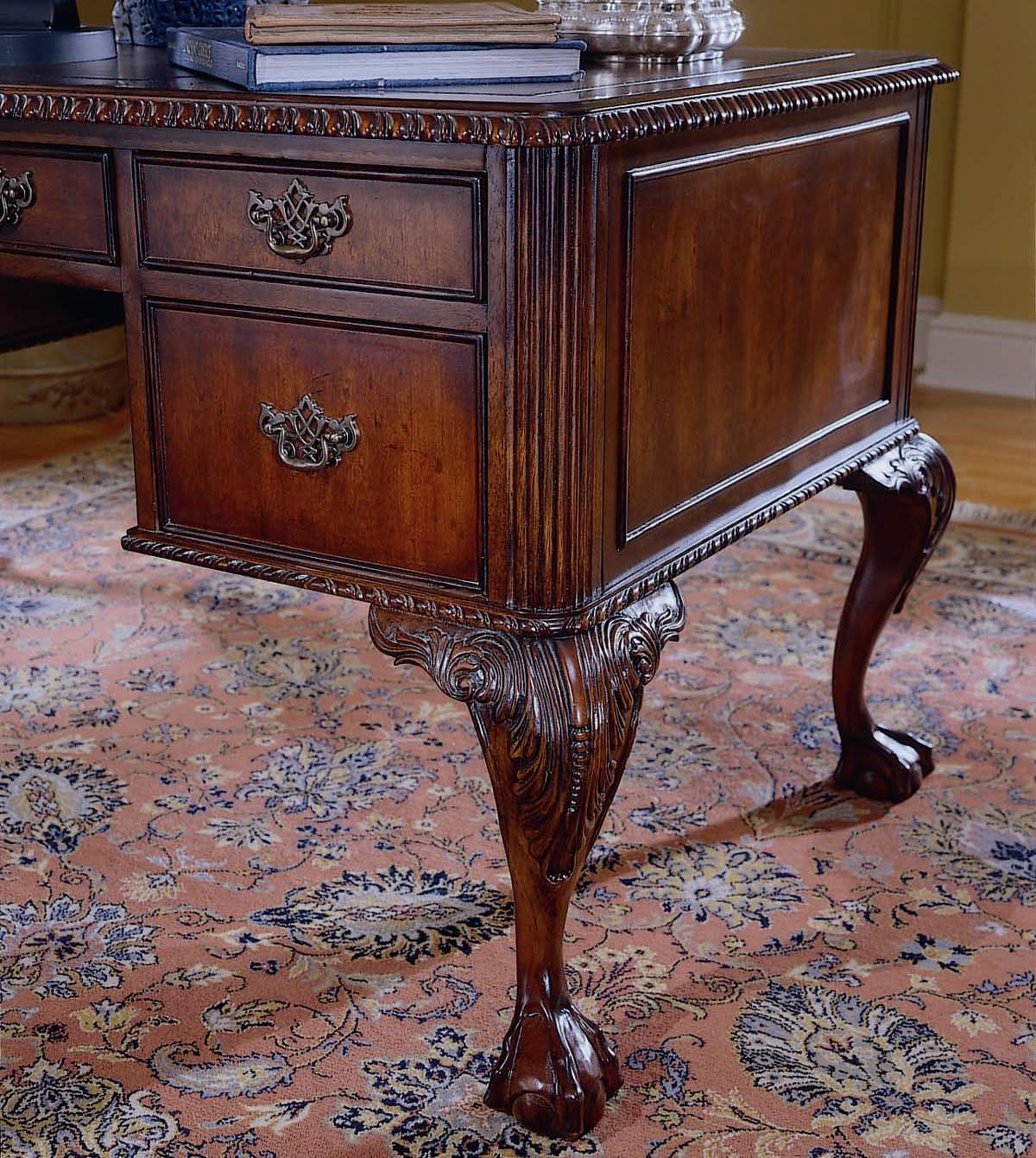 Ball And Claw Writing Desk By Hooker Furniture Wolf And