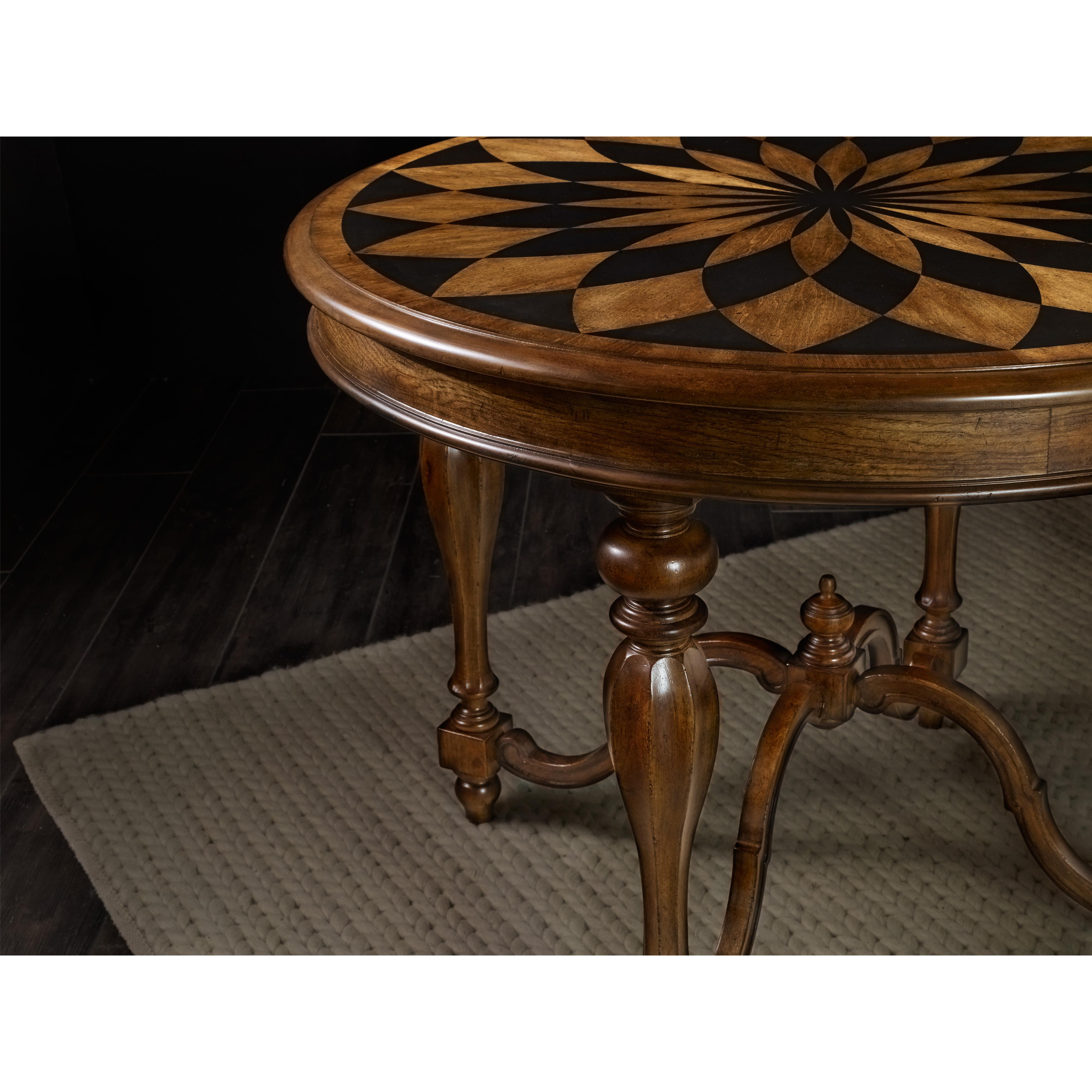Center table with turned legs by hooker furniture wolf for Center table legs
