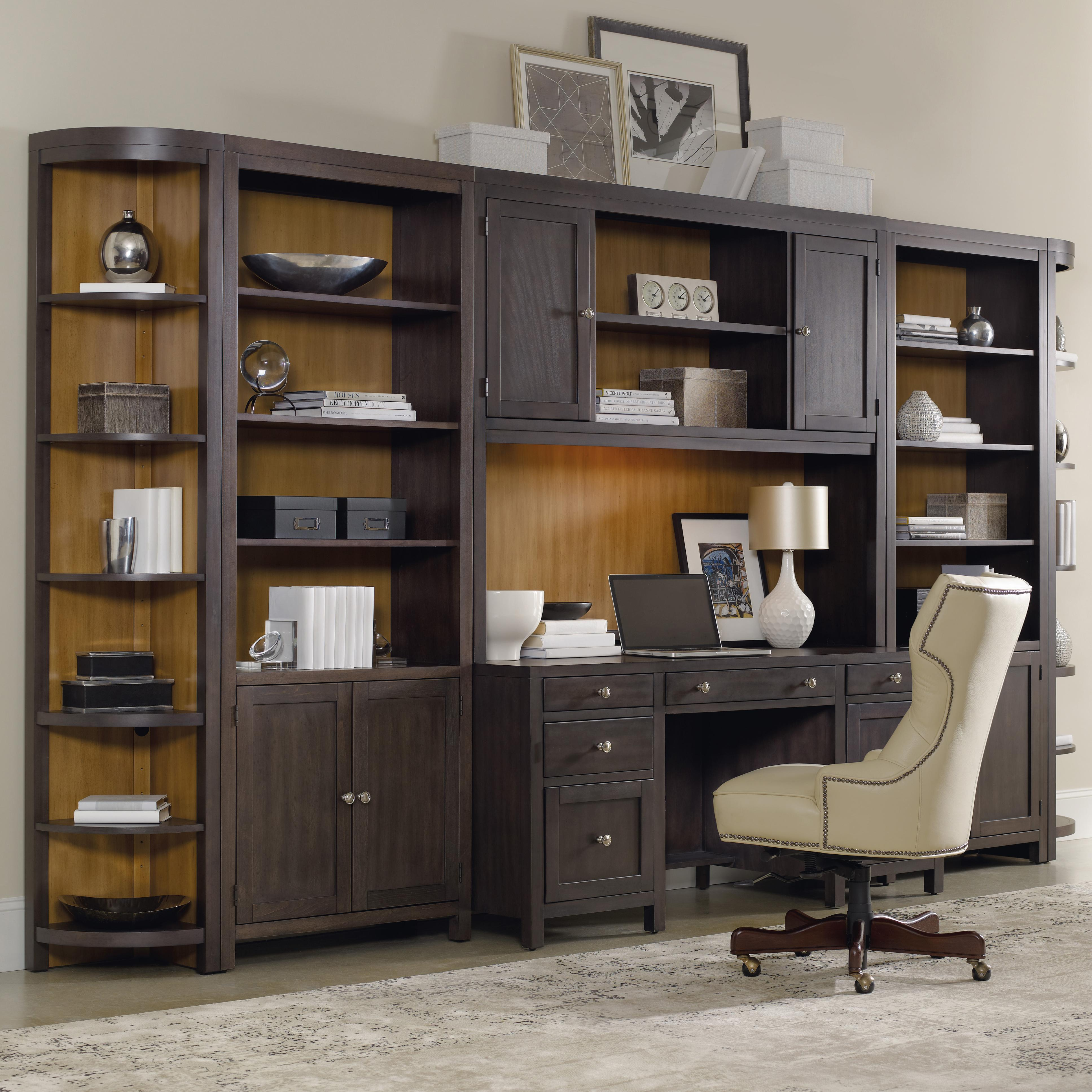 Home fice Wall Unit with puter Credenza by Hooker
