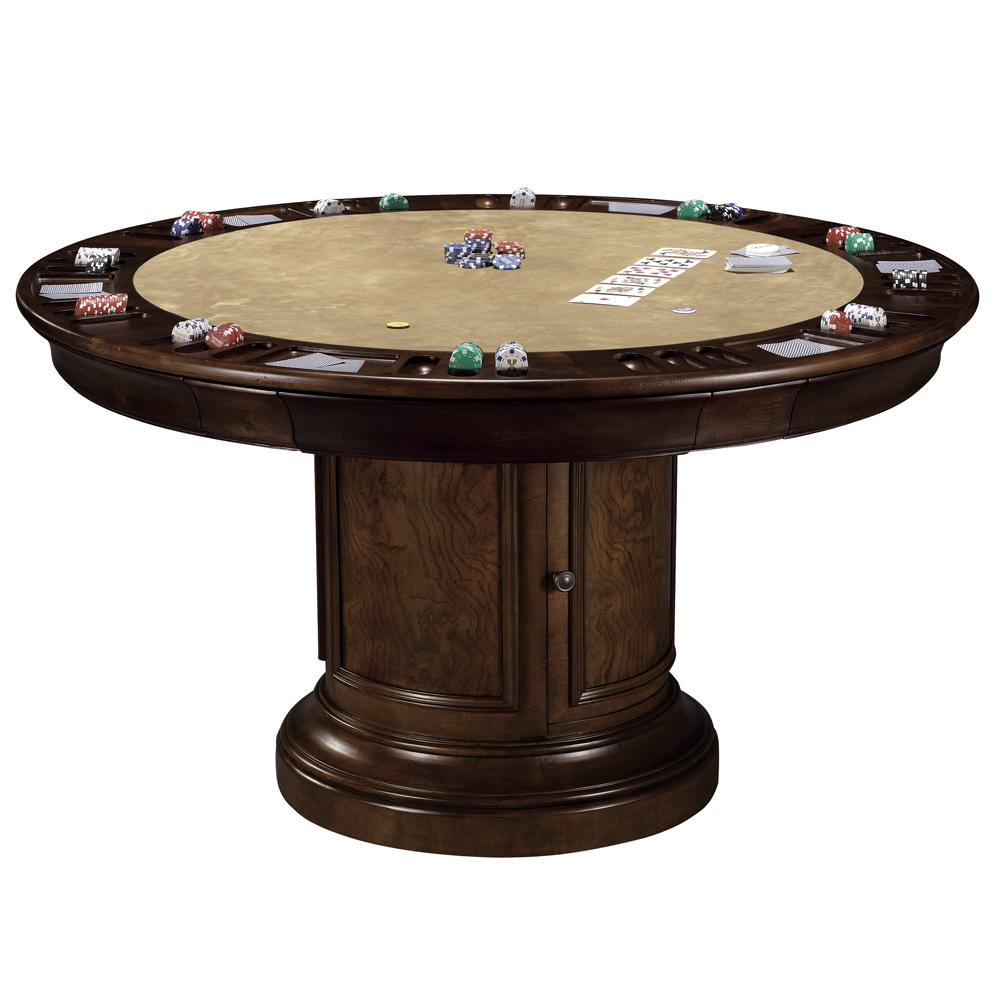 dining poker game table by howard miller wolf and gardiner wolf furniture. Black Bedroom Furniture Sets. Home Design Ideas