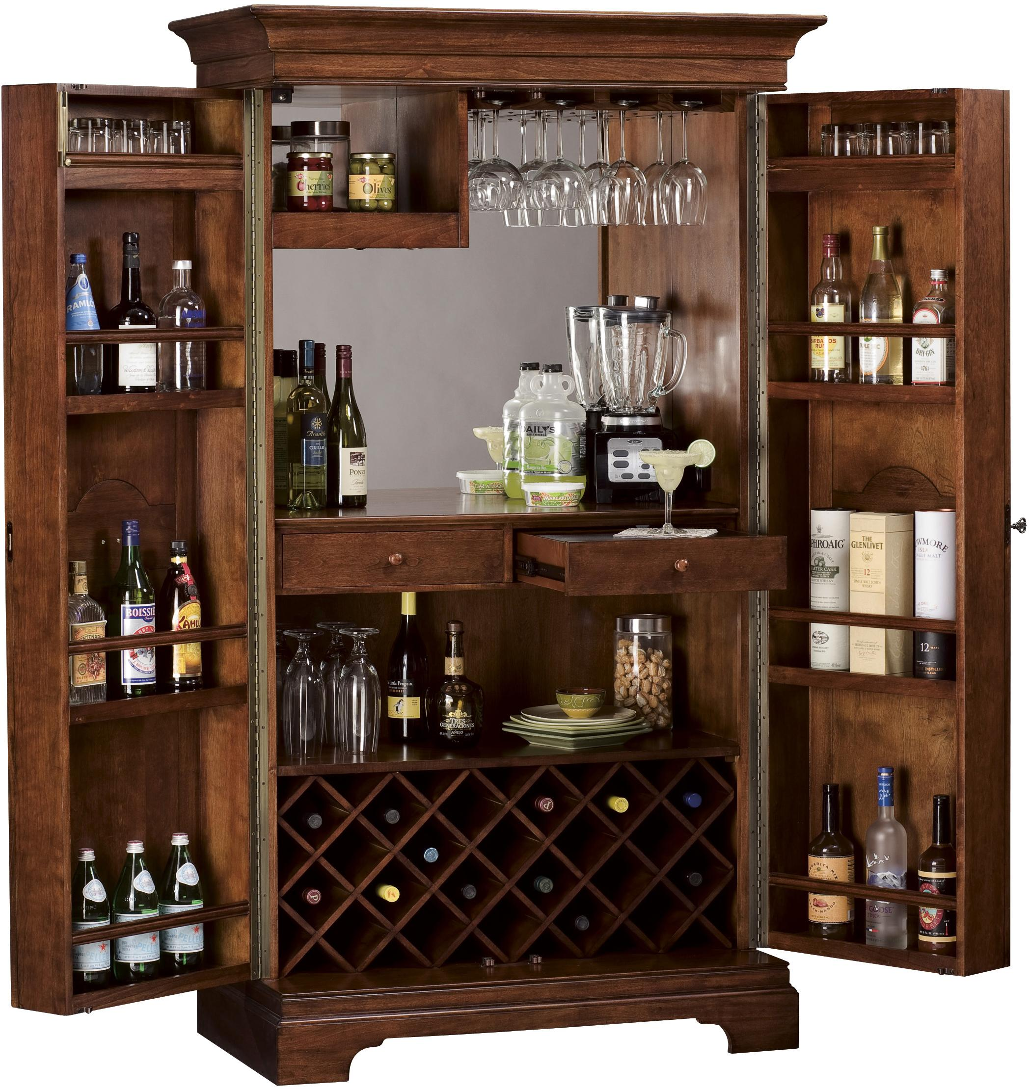 Barossa Valley Hide A Bar Cabinet Stores Up To 22 Bottles Of Wine By Howard Miller Wolf And