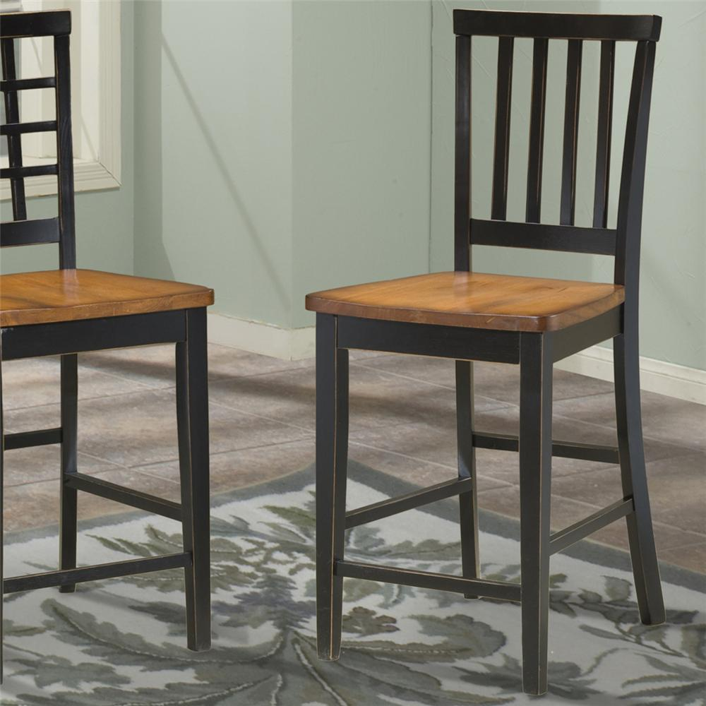 Slat Back 30 Inch Bar Stool By Intercon Wolf And