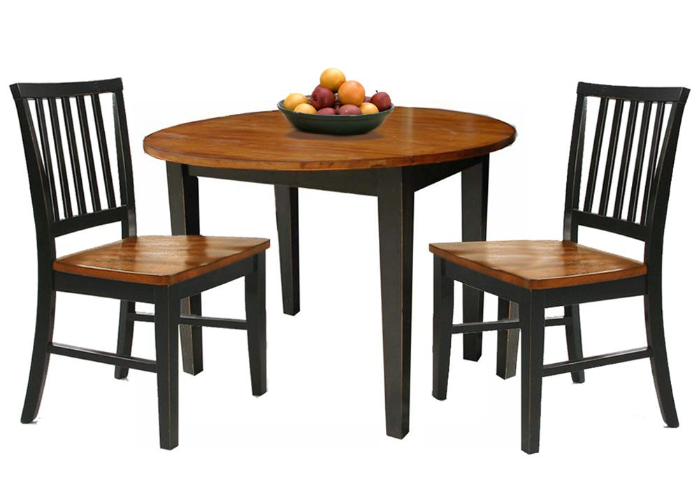 3 piece dining set with two drop leaves by intercon wolf for Small dining set for 2