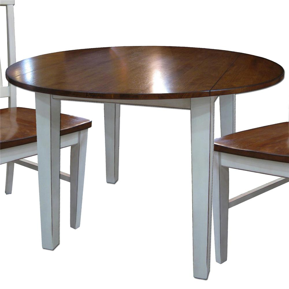 Round drop leaf table by intercon wolf and gardiner wolf for Round kitchen table with leaf
