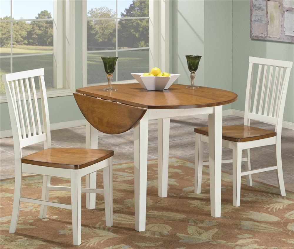 Round drop leaf table by intercon wolf and gardiner wolf for Round kitchen table sets with leaf