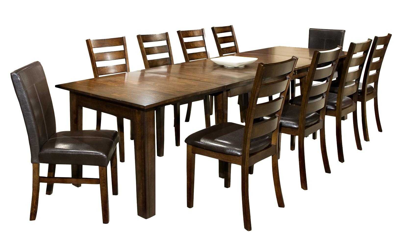 11 piece dining set with table and chairs by intercon For11 Piece Dining Table Set