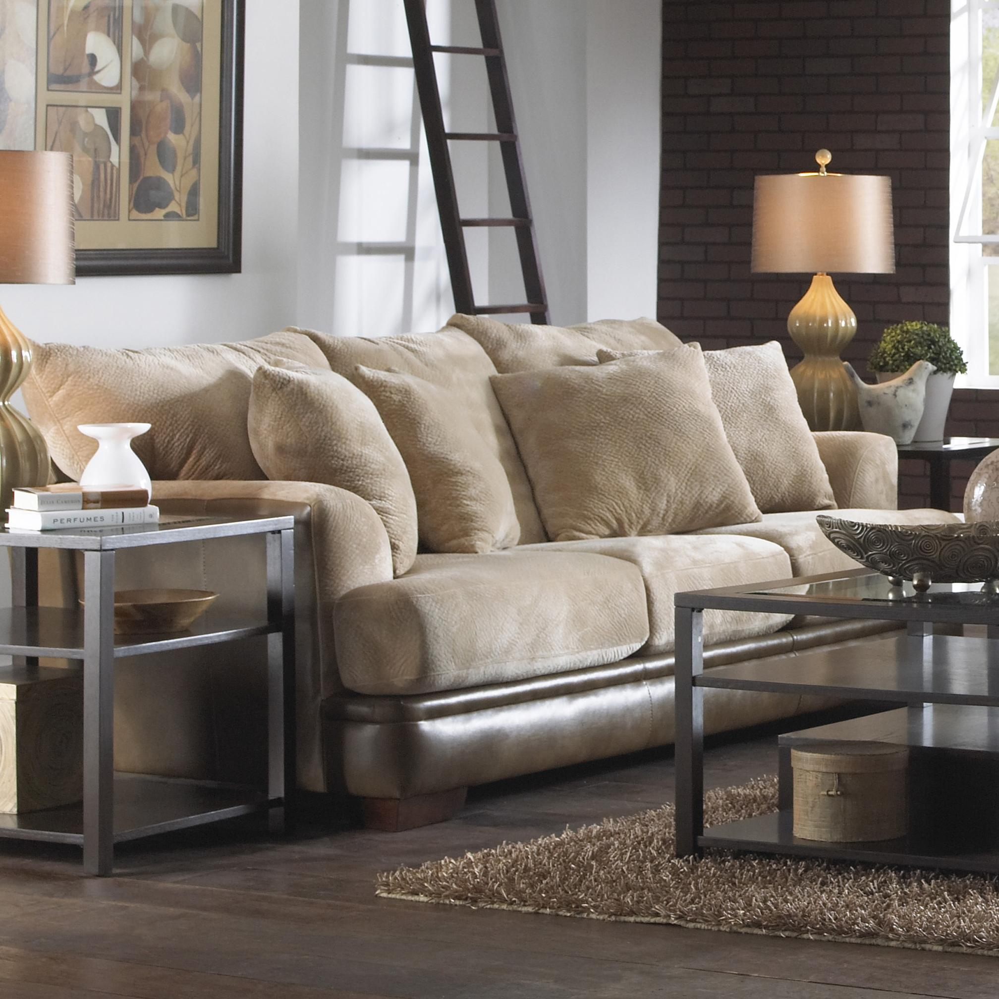 contemporary sofa with unique shark fin arms by jackson furniture wolf and gardiner wolf furniture. Black Bedroom Furniture Sets. Home Design Ideas