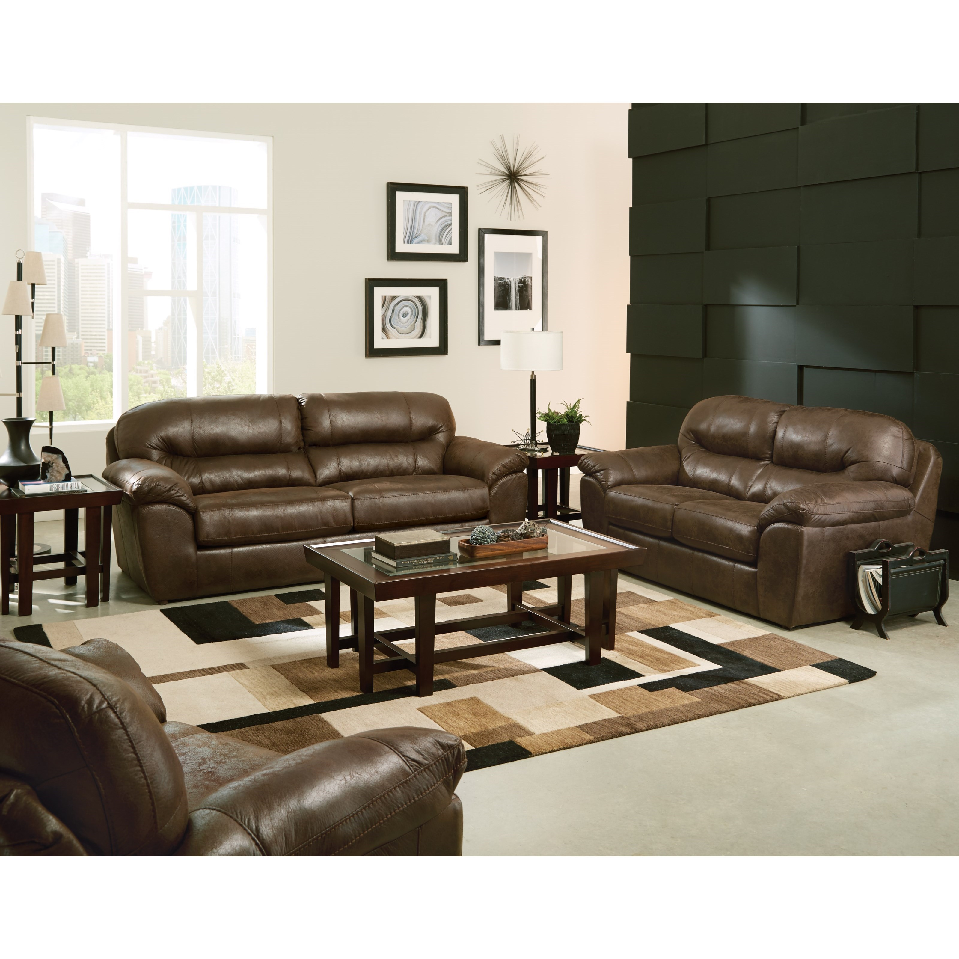 sofa with pillow arms by jackson furniture wolf and gardiner wolf furniture. Black Bedroom Furniture Sets. Home Design Ideas