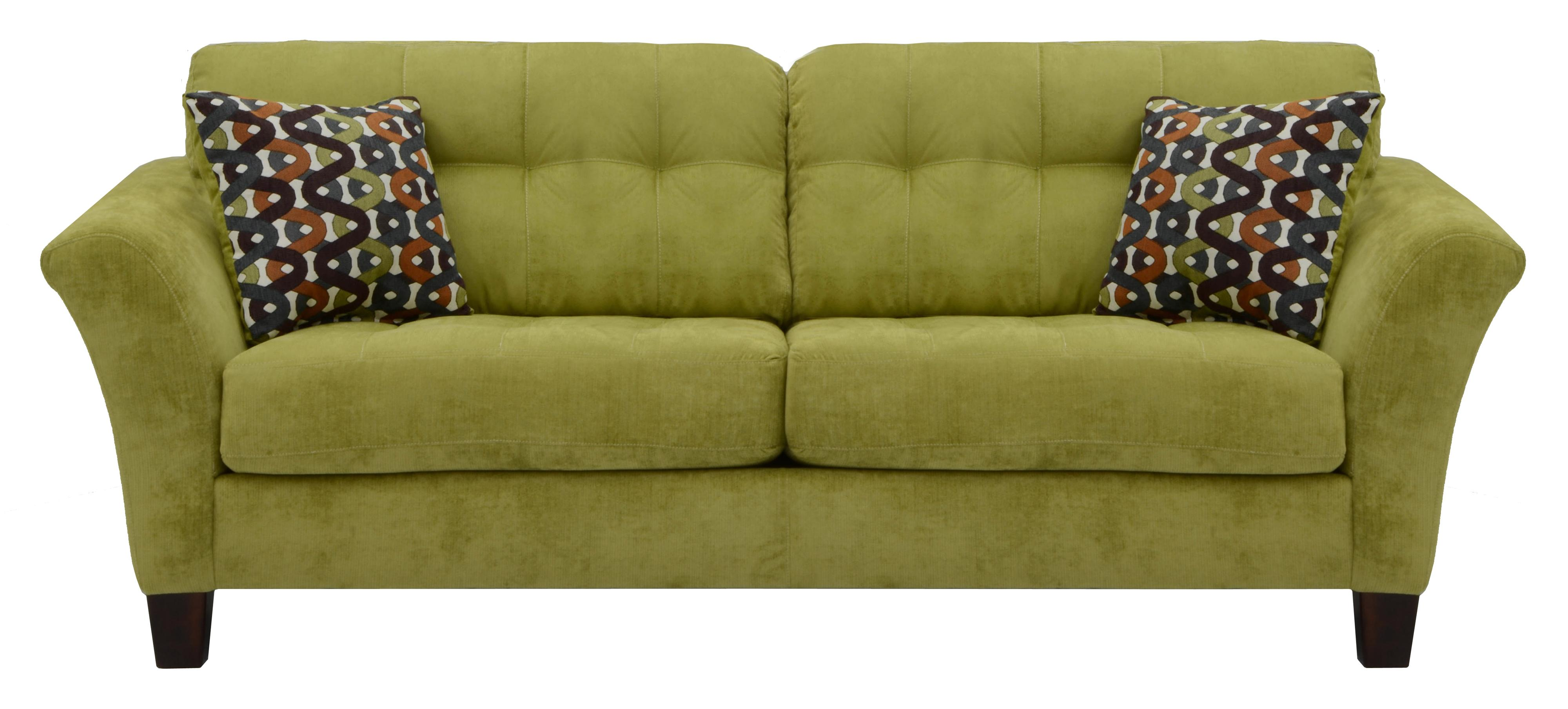 sofa with 2 seats and tufted back cushions by jackson. Black Bedroom Furniture Sets. Home Design Ideas