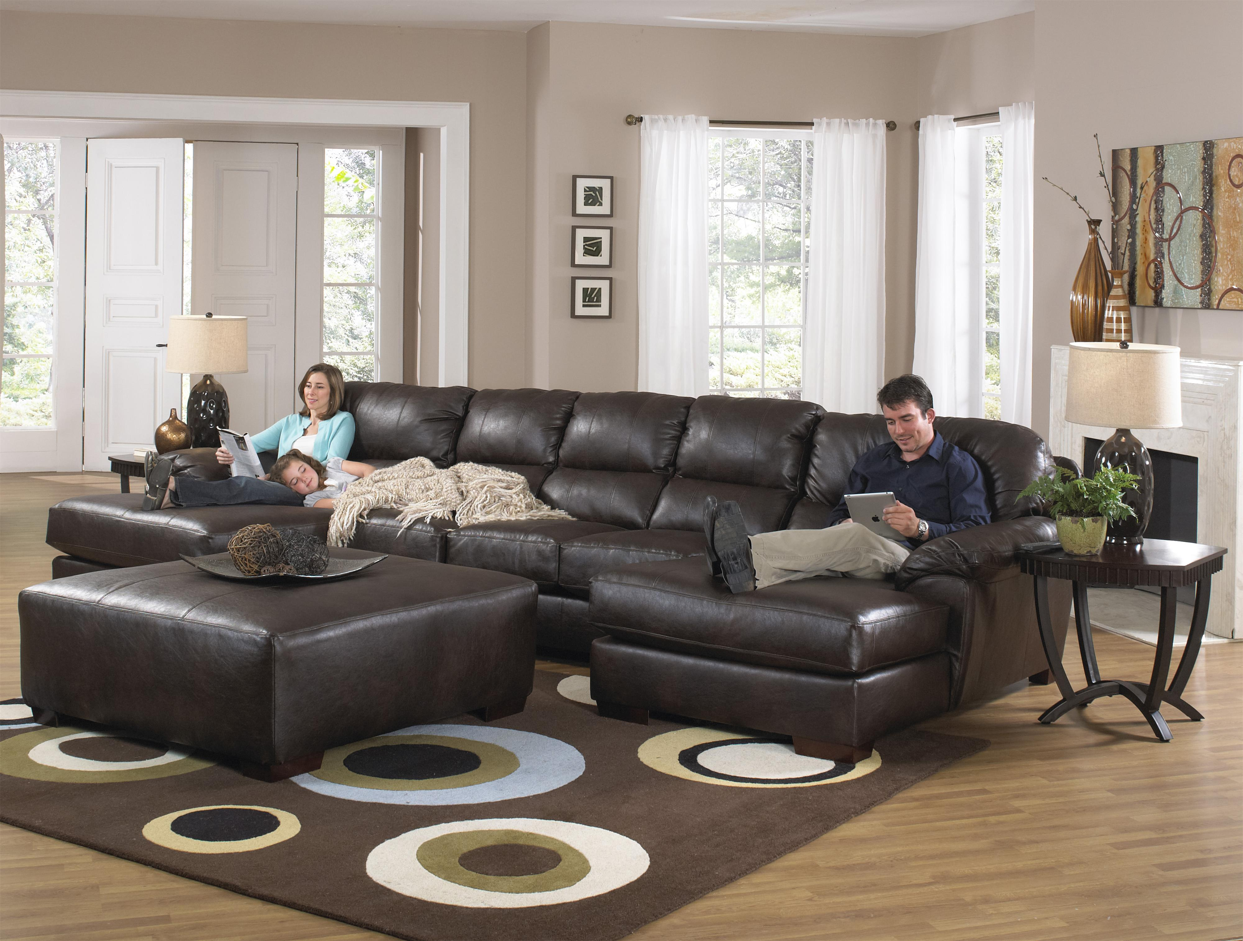 Two Chaise Sectional Sofa With Five Seats By Jackson
