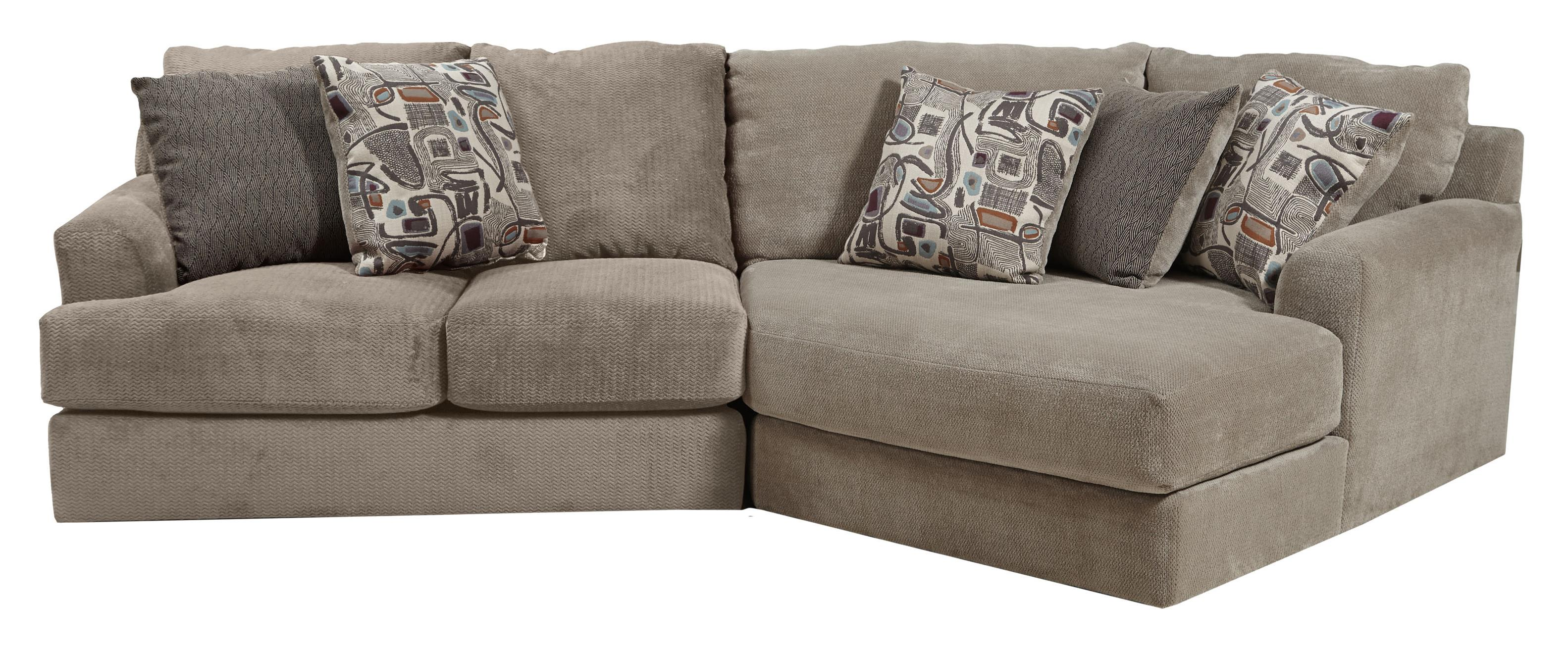Small three seat sectional sofa by jackson furniture for Sectional sofas wolf furniture