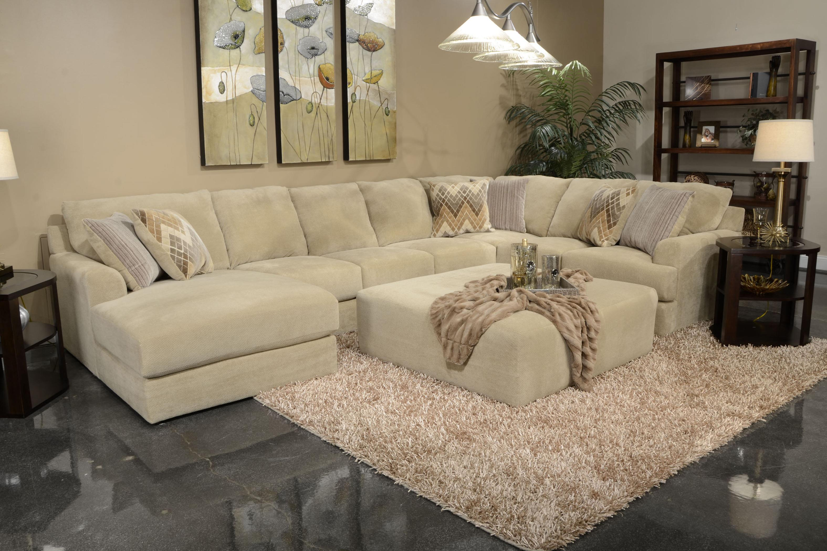 Six seat sectional sofa by jackson furniture wolf and for Sectional sofa 6 seater