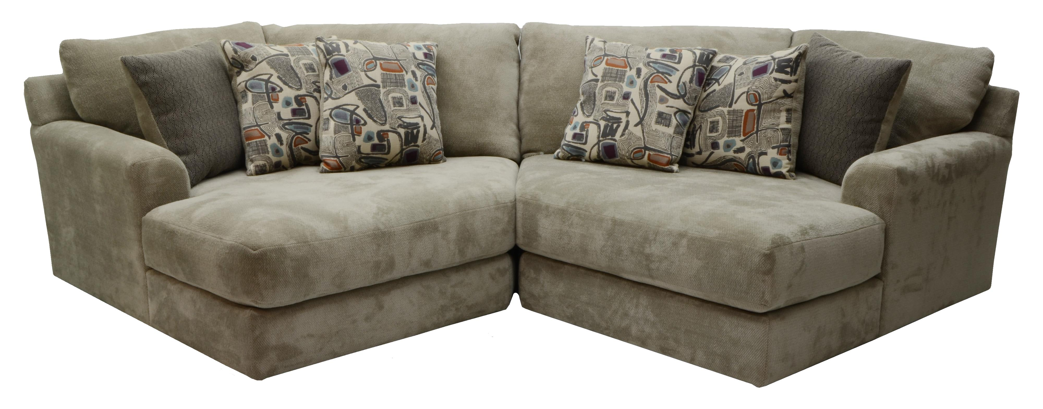 Two seat sectional by jackson furniture wolf and for Sectional sofas wolf furniture