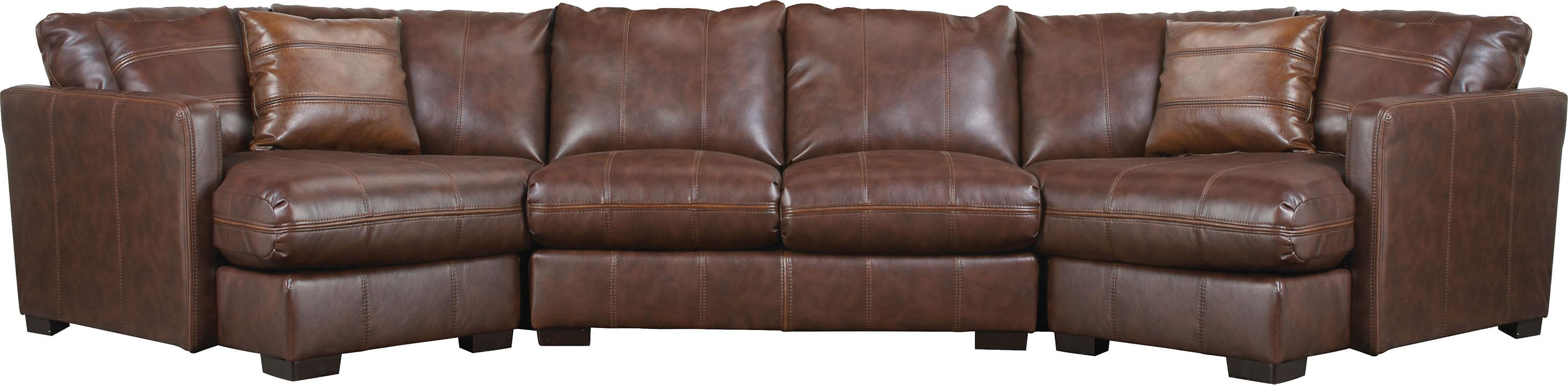Four seat sectional sofa by jackson furniture wolf and for Sectional sofa with 4 recliners