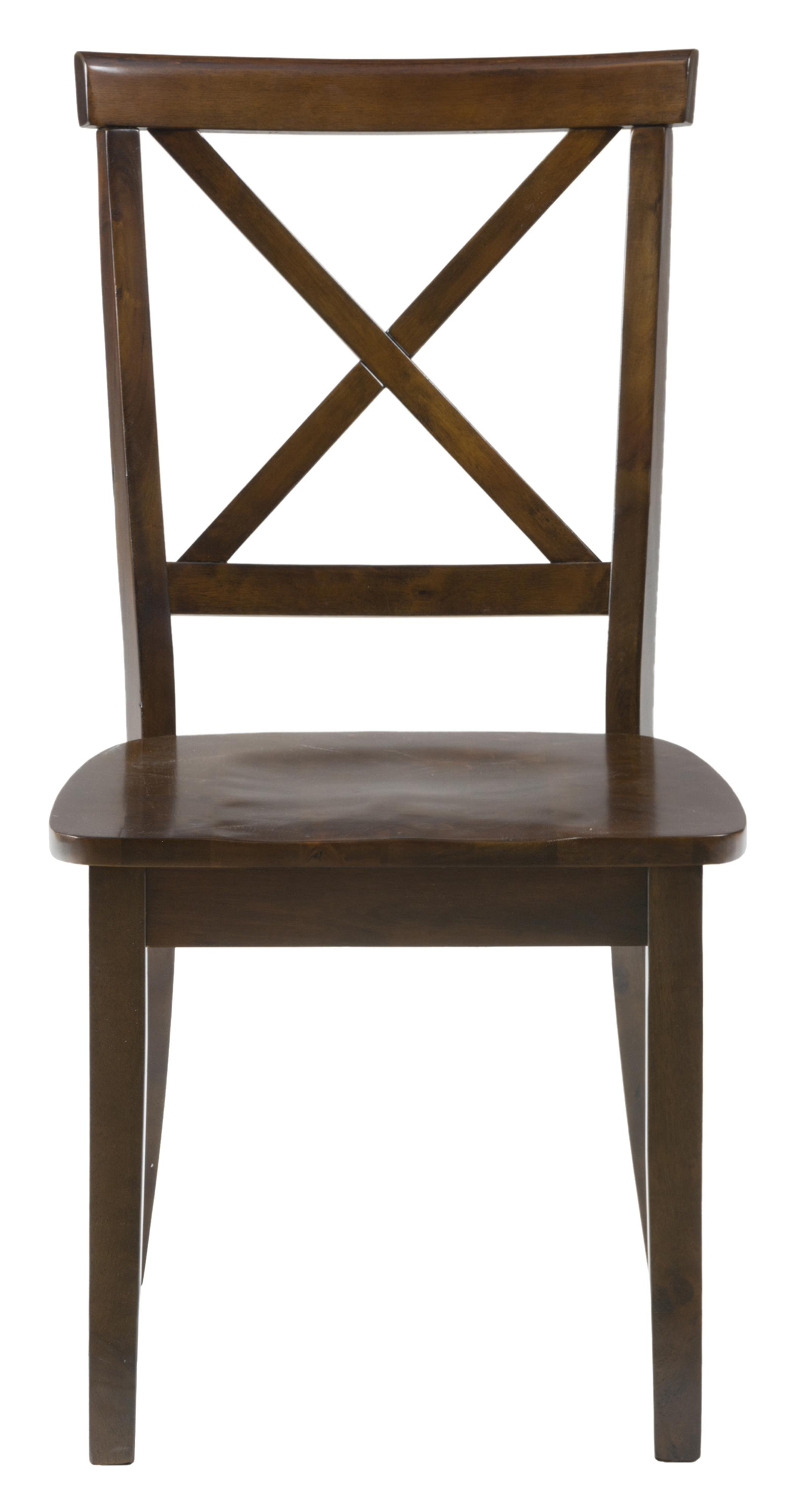 X Back Chair with Wood Seat by Jofran