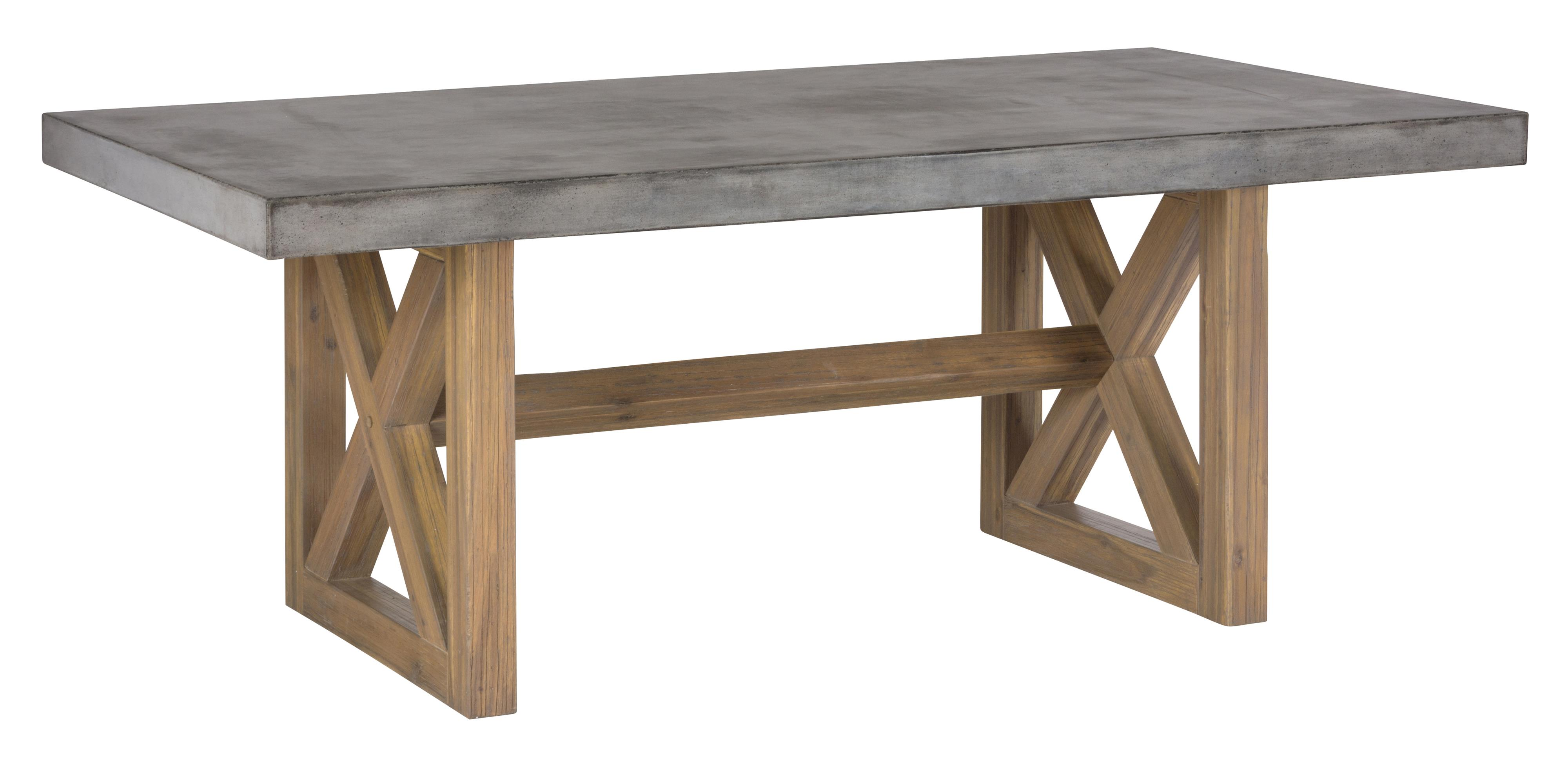 Concrete dining table rectangle by jofran wolf and for Best desks are dining tables