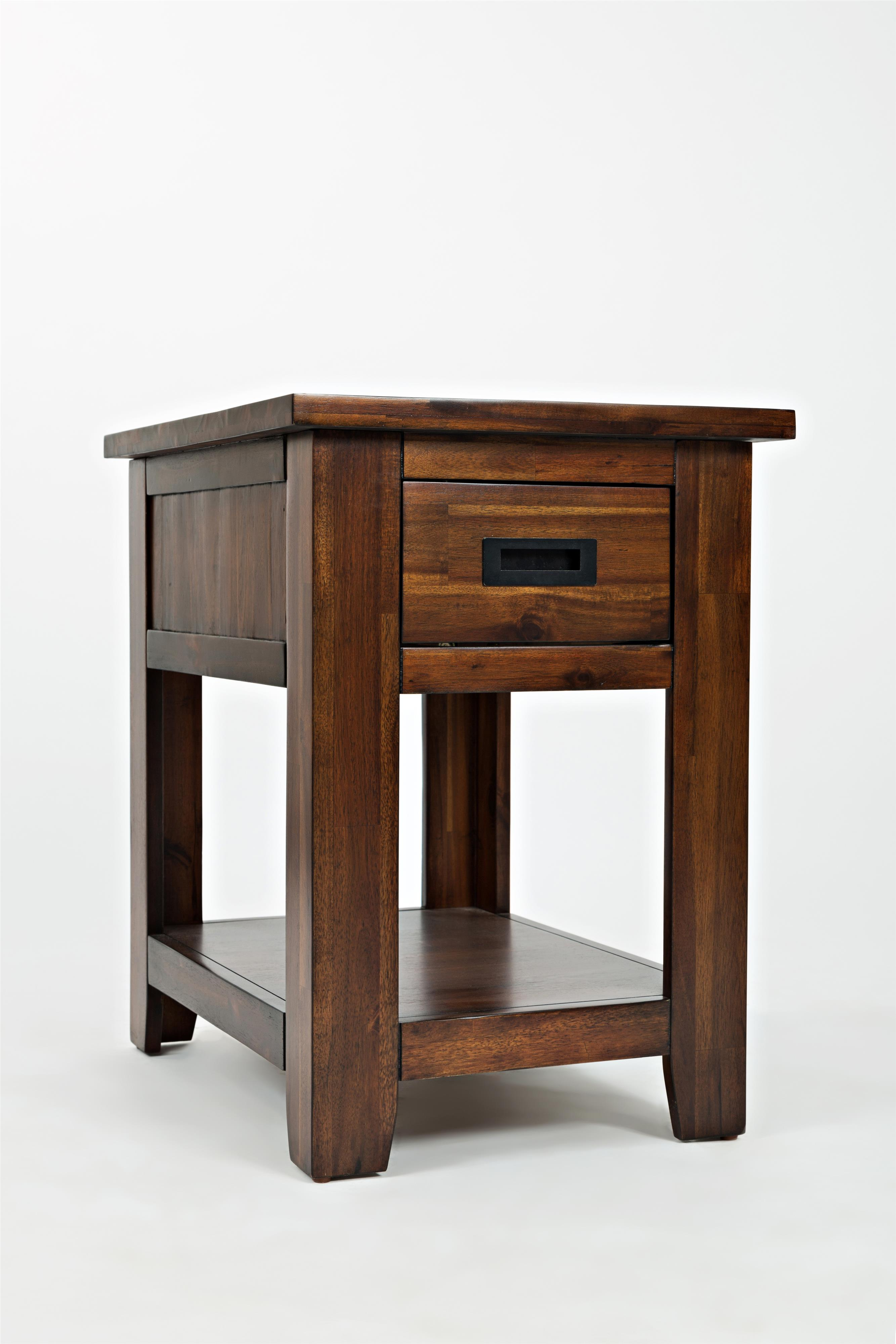 One drawer chairside table by jofran wolf and gardiner for Chairside table