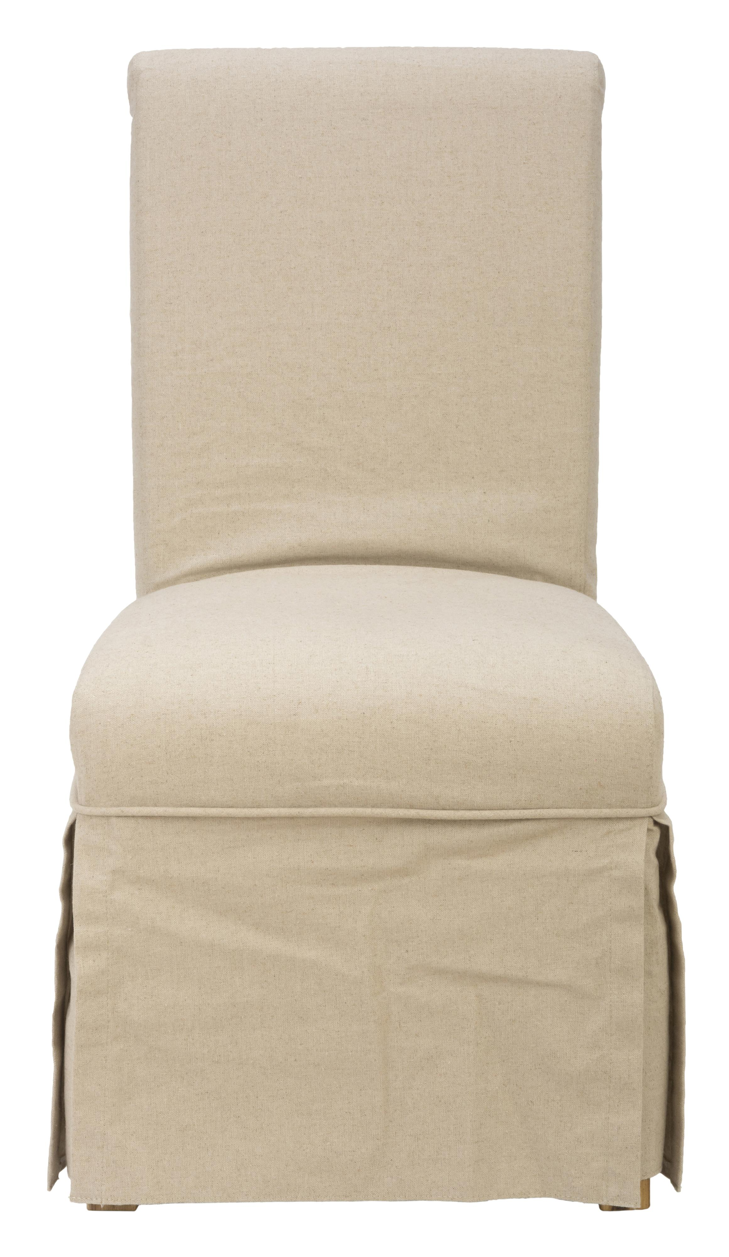 Slipcover Skirted Parson Chair With Linen Look By Jofran