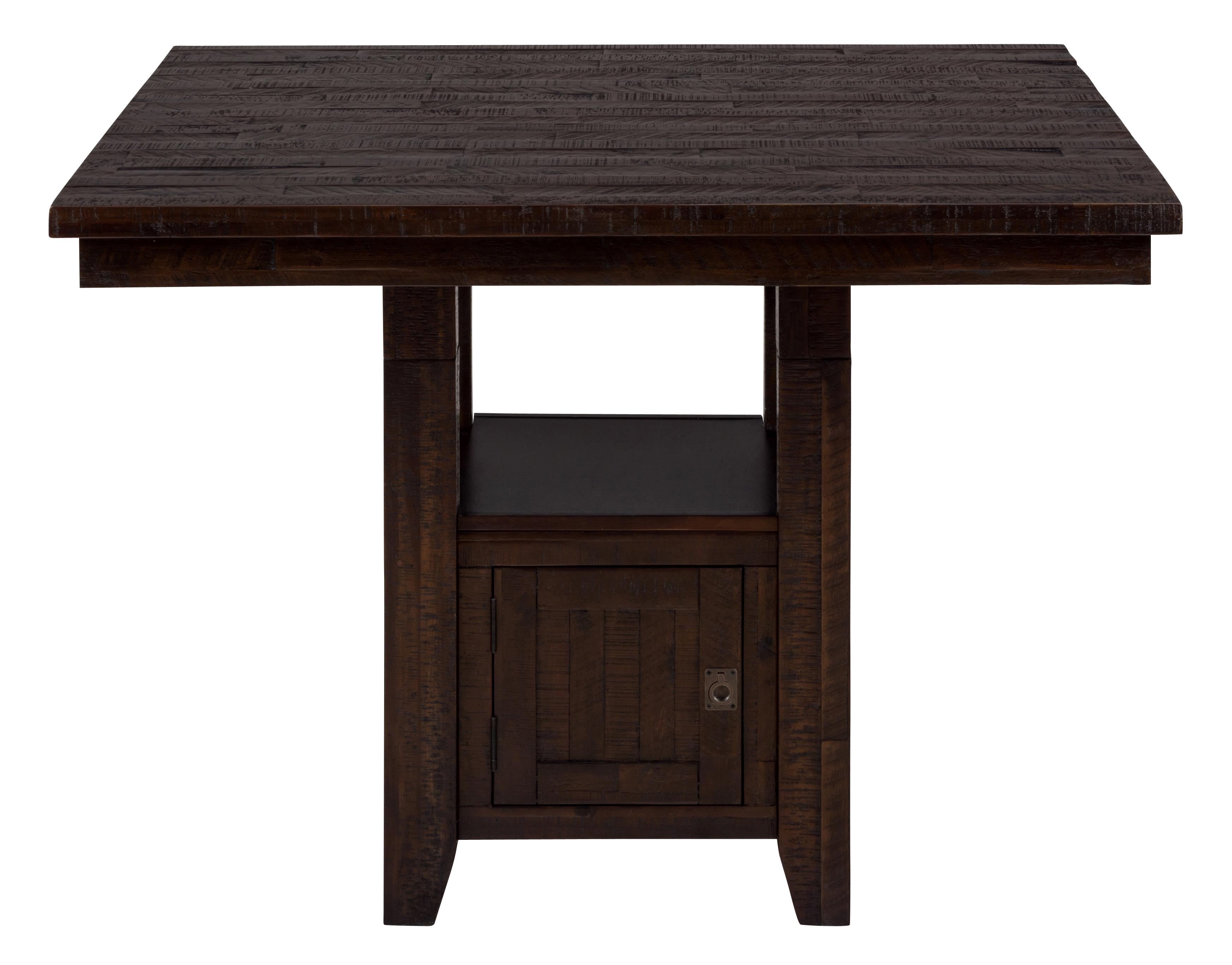 fixed pub table with storage base by jofran wolf and gardiner wolf furniture. Black Bedroom Furniture Sets. Home Design Ideas