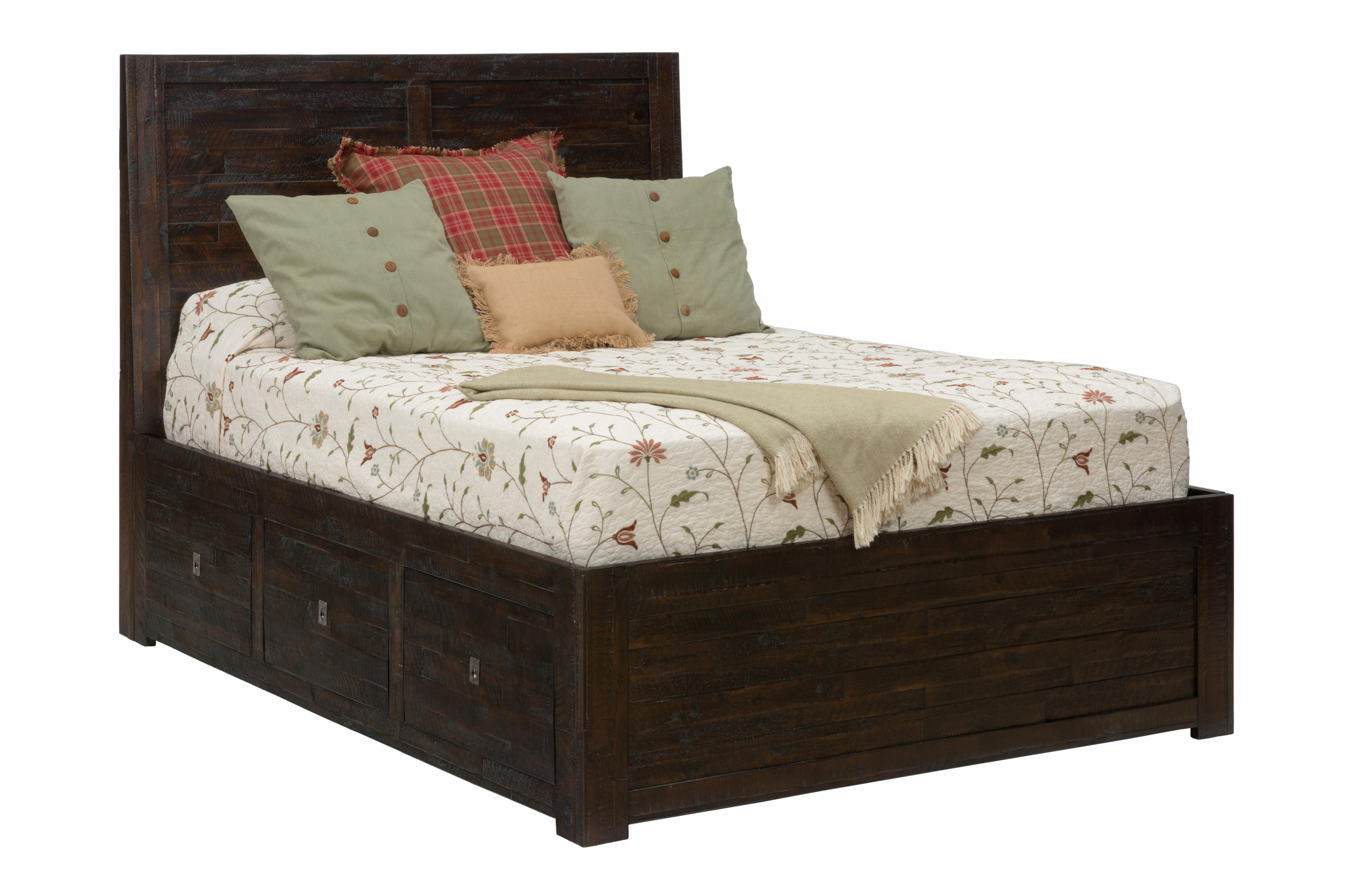 queen storage bed by jofran wolf and gardiner wolf furniture. Black Bedroom Furniture Sets. Home Design Ideas