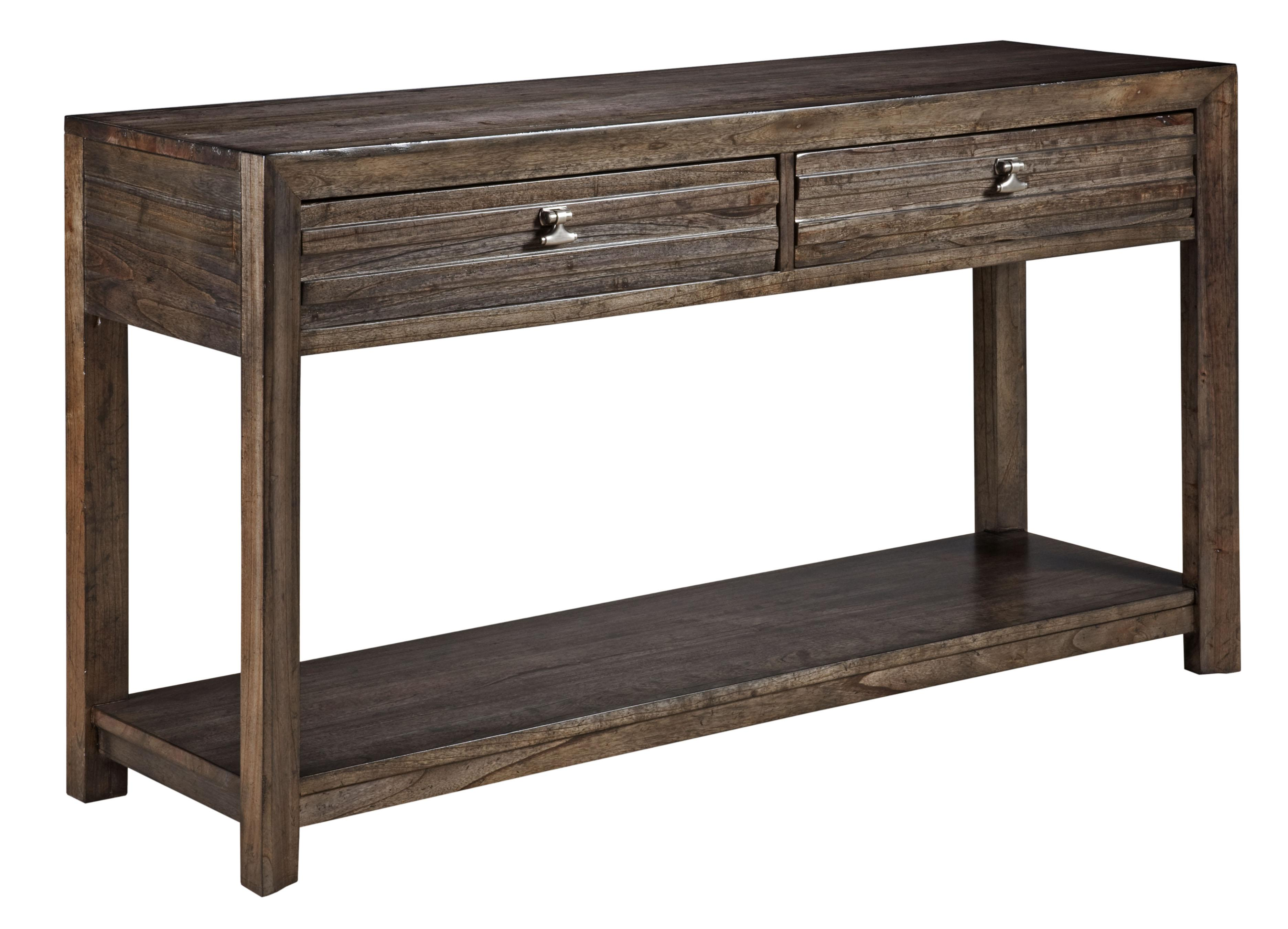 Contemporary montreat sofa table with grooved mouldings - Contemporary console tables with drawers ...